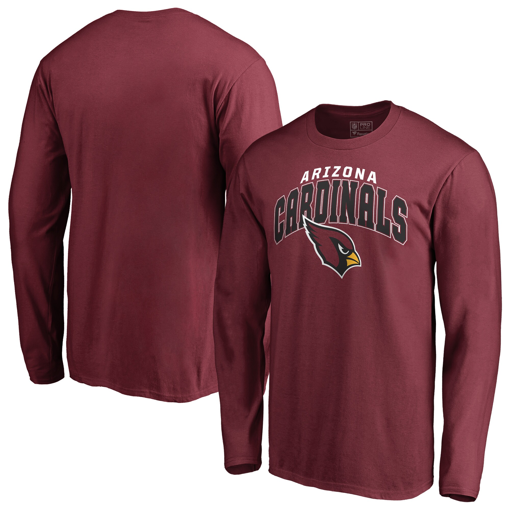 Arizona Cardinals NFL Pro Line by Fanatics Branded Big & Tall Steady Long Sleeve T-Shirt - Cardinal