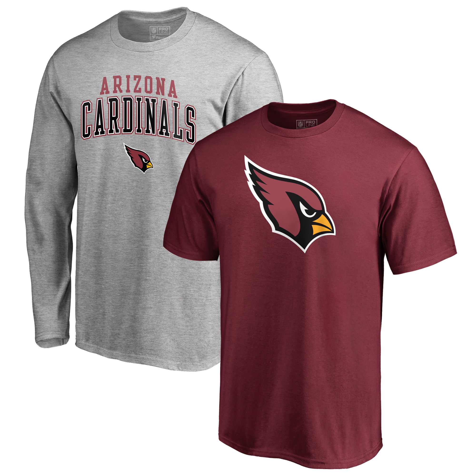 Arizona Cardinals NFL Pro Line by Fanatics Branded Square Up T-Shirt Combo Set - Cardinal/Heathered Gray