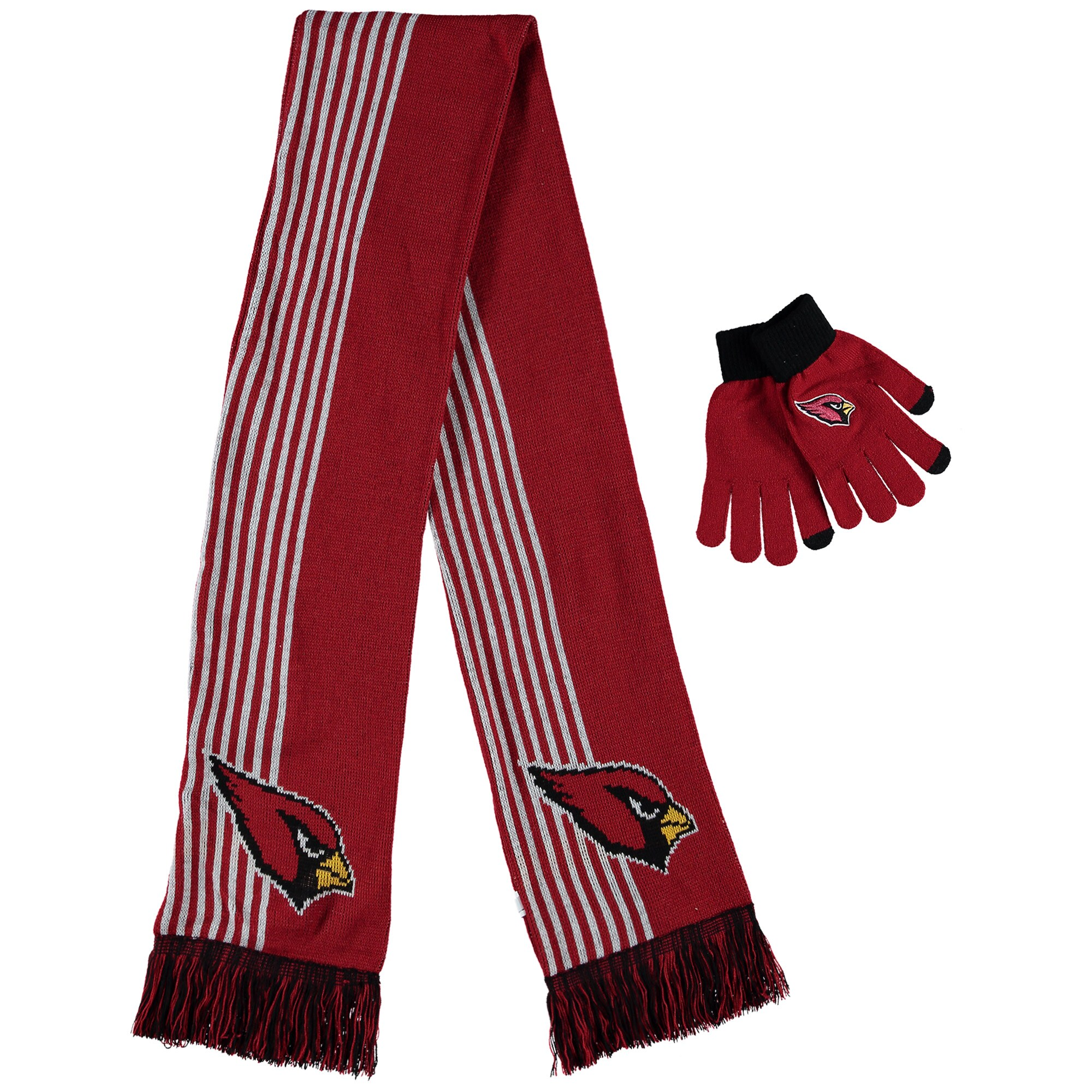 Arizona Cardinals Women's Gloves & Scarf Set - Cardinal