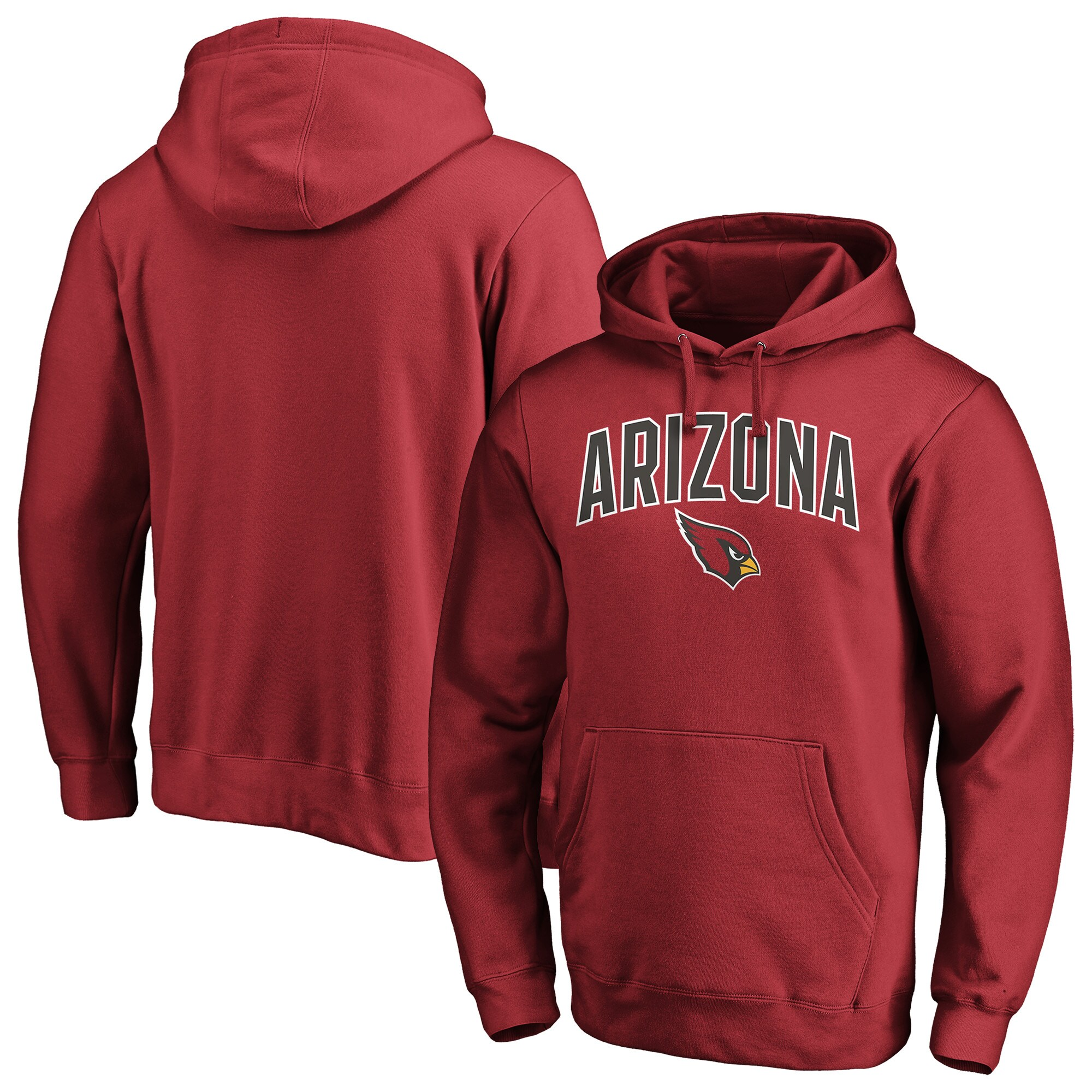 Arizona Cardinals NFL Pro Line by Fanatics Branded Iconic Engage Arch Pullover Hoodie - Cardinal