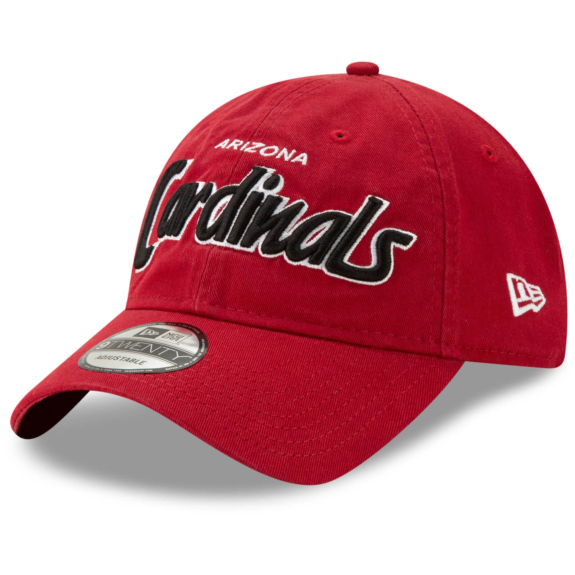 Arizona Cardinals New Era Retro Script II 9TWENTY Adjustable Snapback Hat - Cardinal