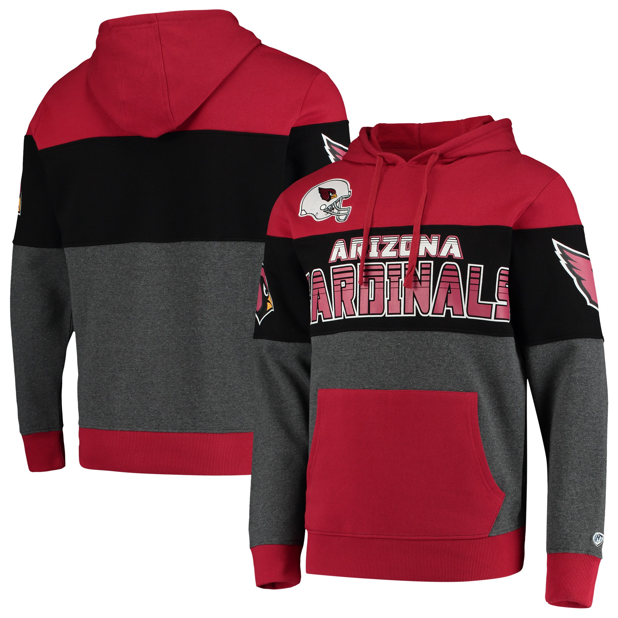 Arizona Cardinals G-III Sports by Carl Banks Extreme Special Team Pullover Hoodie - Cardinal/Charcoal