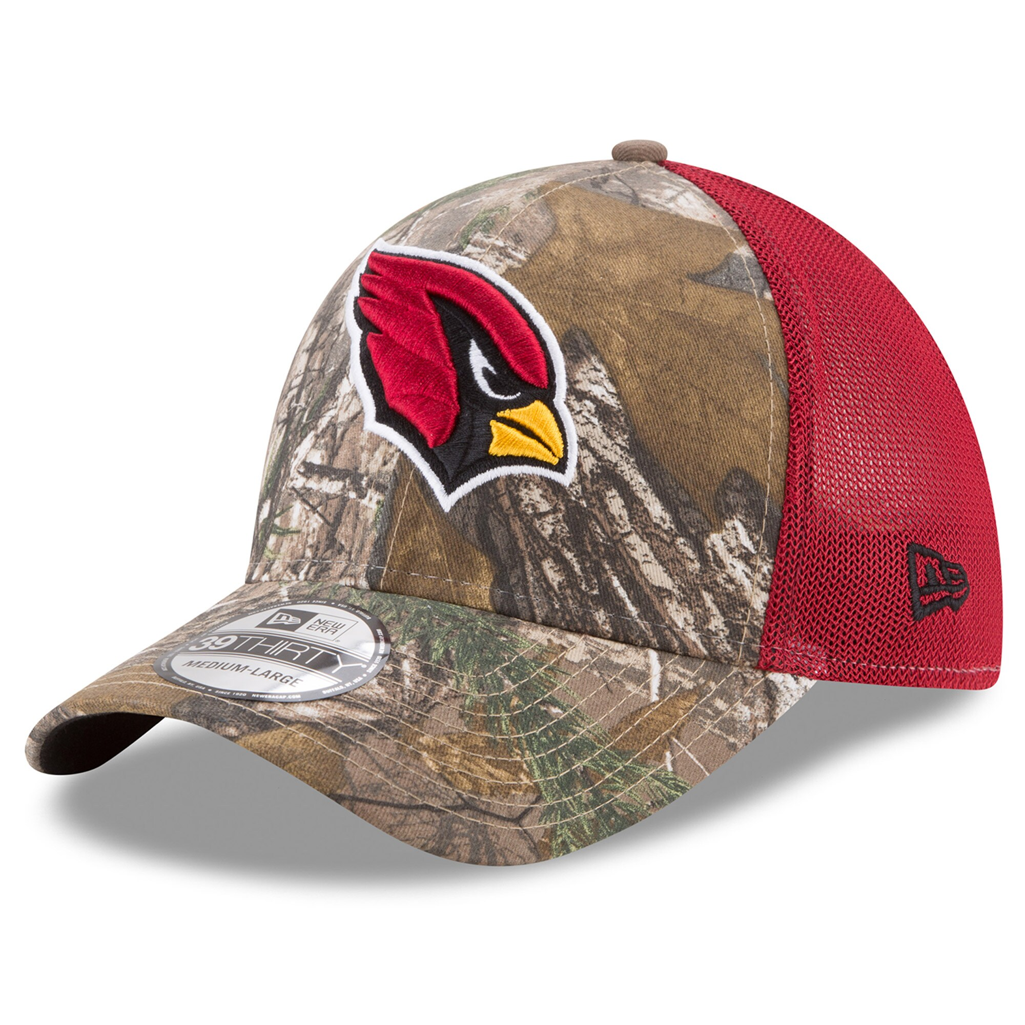 Arizona Cardinals New Era Trucker 39THIRTY Flex Hat - Realtree Camo/Cardinal