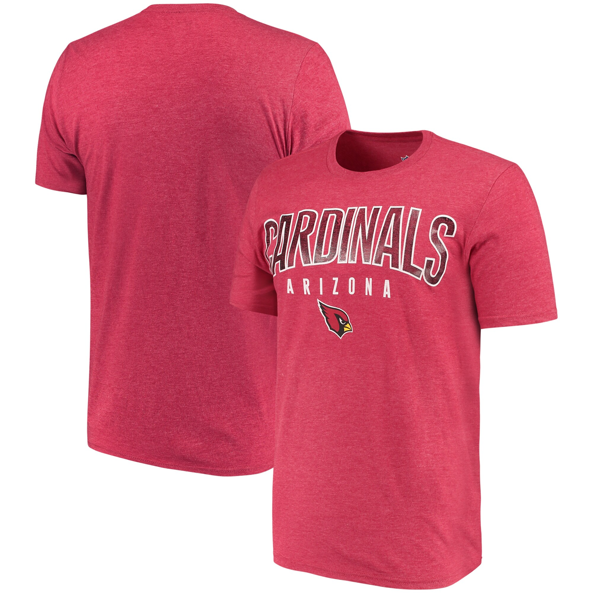 Arizona Cardinals G-III Sports by Carl Banks Prime Time Tri-Blend T-Shirt - Cardinal