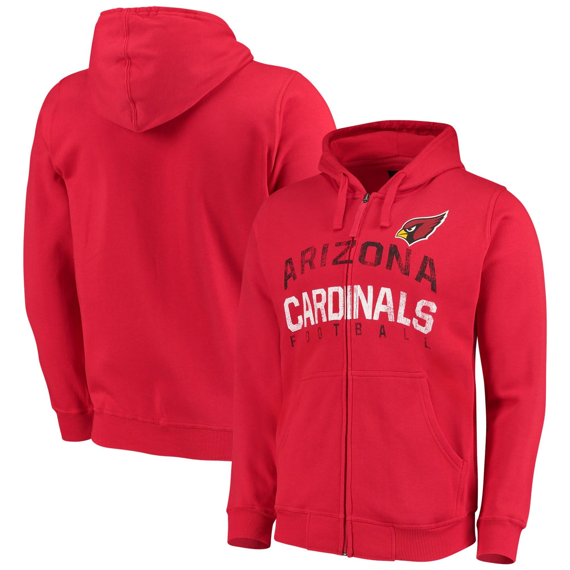 Arizona Cardinals G-III Sports by Carl Banks Post Season Full-Zip Hooded Sweatshirt - Cardinal