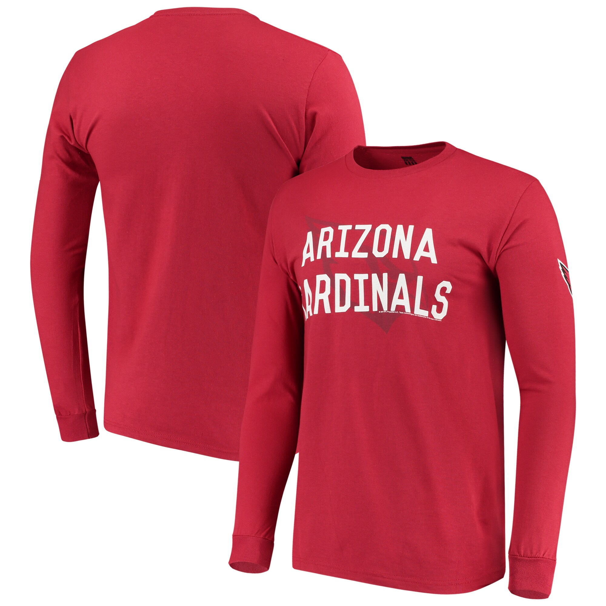 Arizona Cardinals Fade Route Long Sleeve T-Shirt - Cardinal