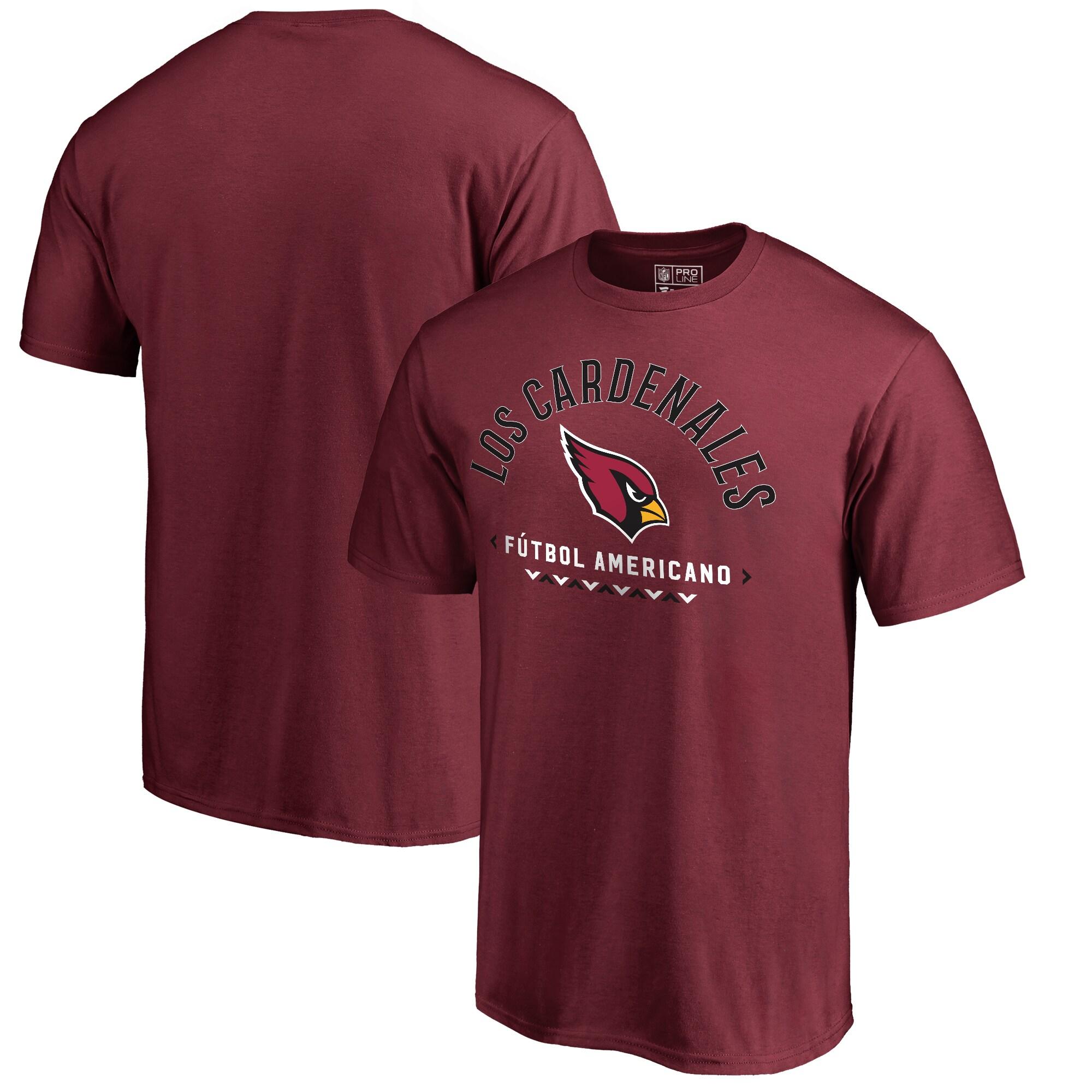 Arizona Cardinals NFL Pro Line by Fanatics Branded Futbol Americano T-Shirt - Cardinal