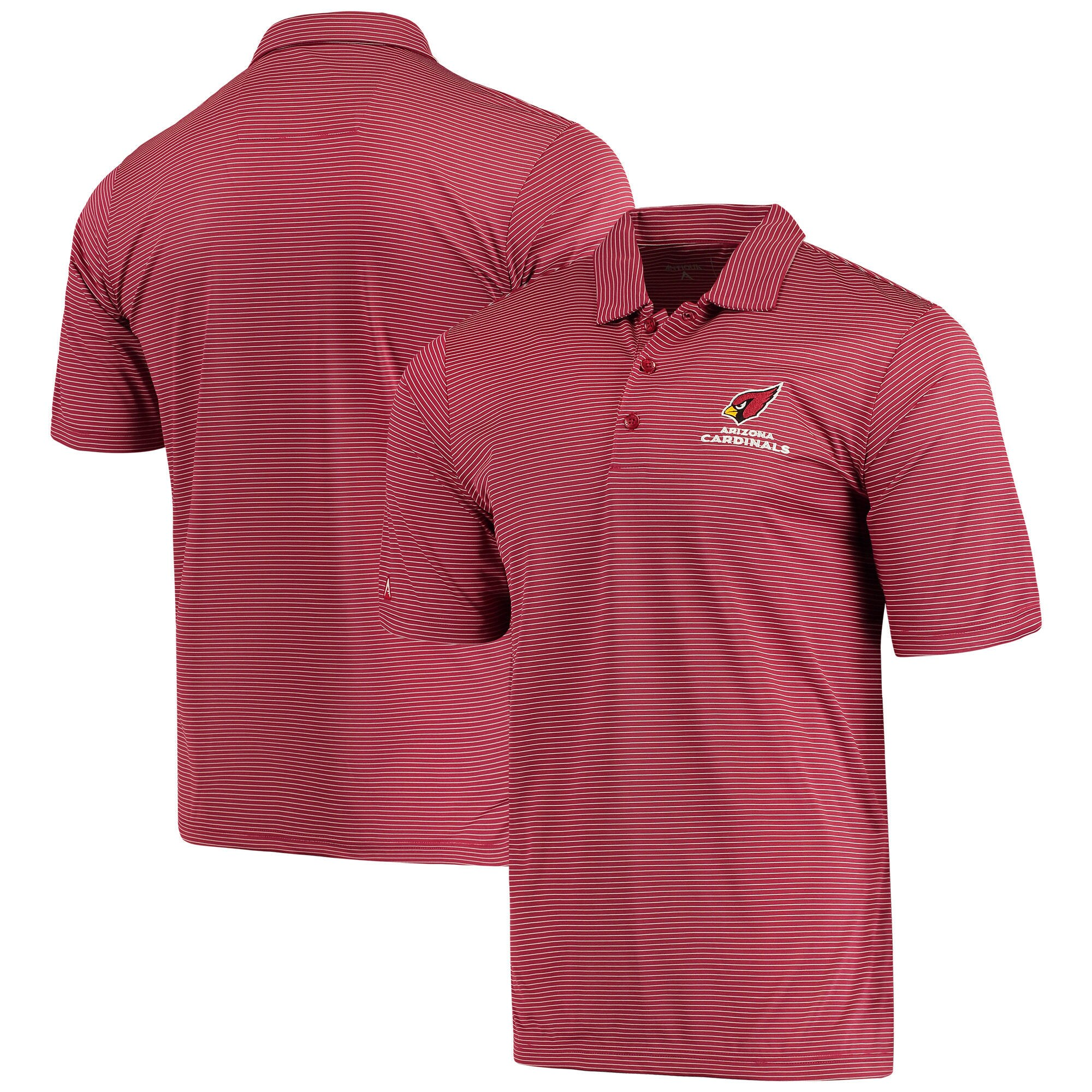 Arizona Cardinals Antigua Quest Polo - Cardinal/White
