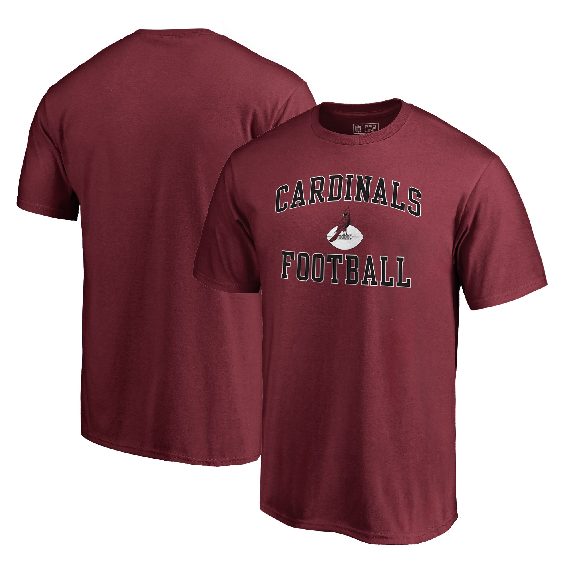 Arizona Cardinals NFL Pro Line by Fanatics Branded Vintage Collection Victory Arch Big & Tall T-Shirt - Cardinal