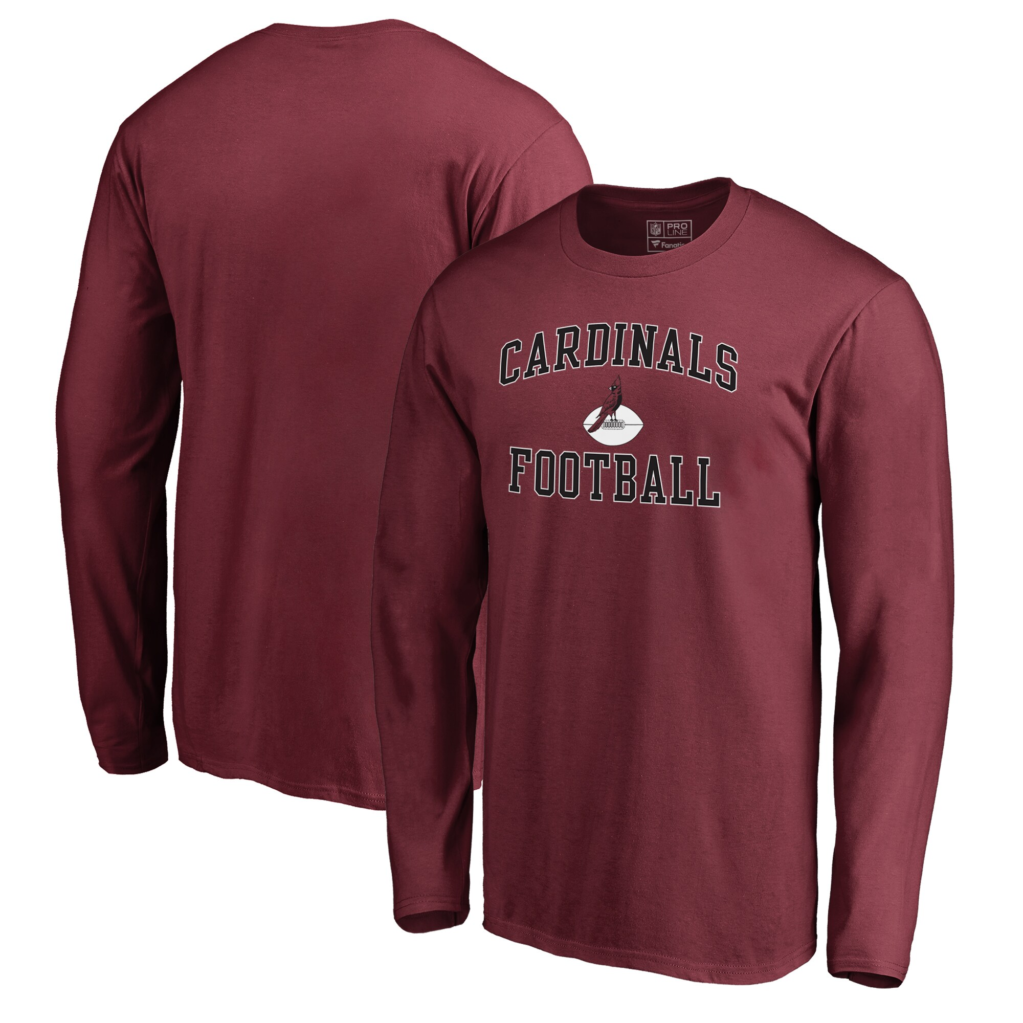 Arizona Cardinals NFL Pro Line by Fanatics Branded Vintage Collection Victory Arch Big & Tall Long Sleeve T-Shirt - Cardinal