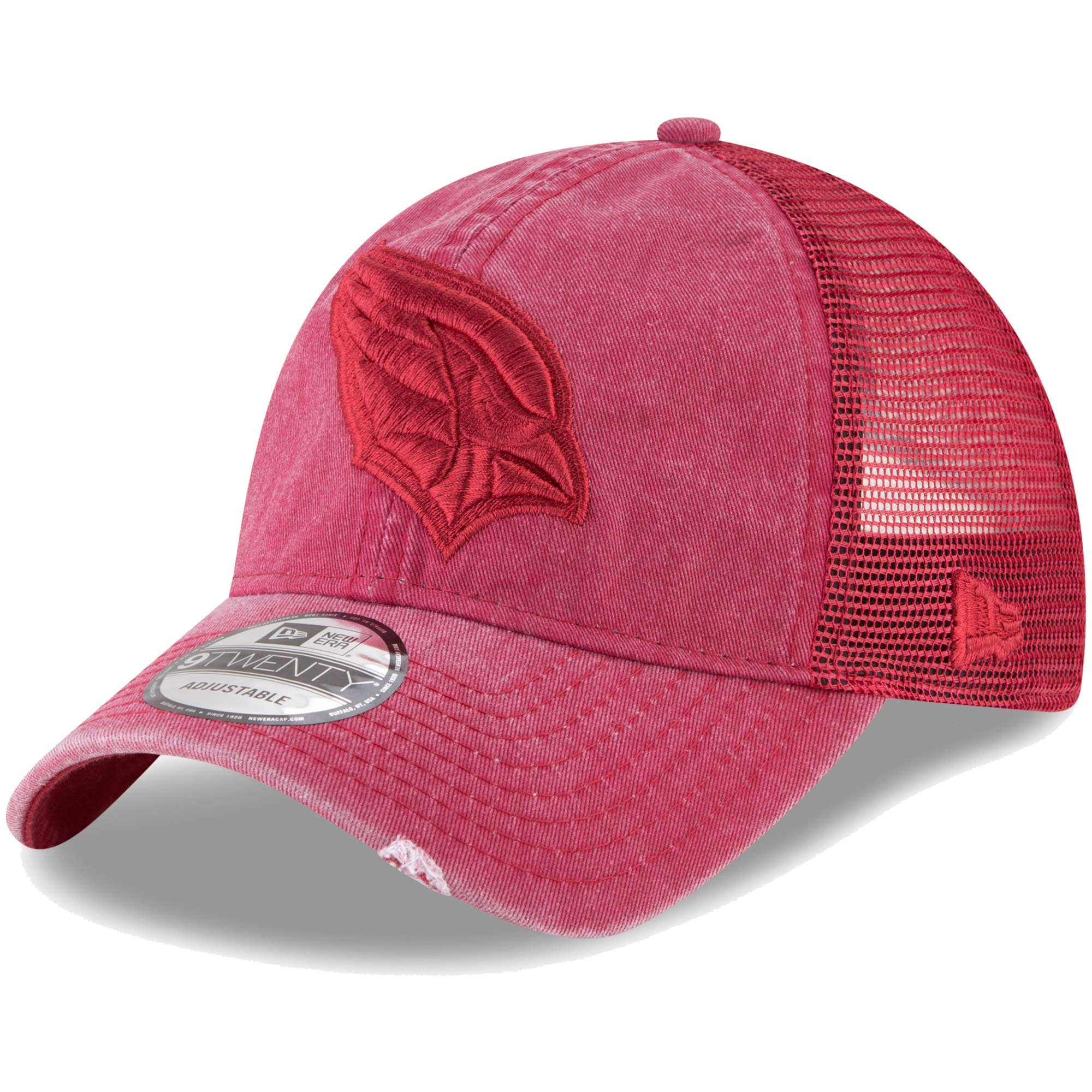 Arizona Cardinals New Era Tonal Washed Trucker 9TWENTY Adjustable Snapback Hat - Cardinal