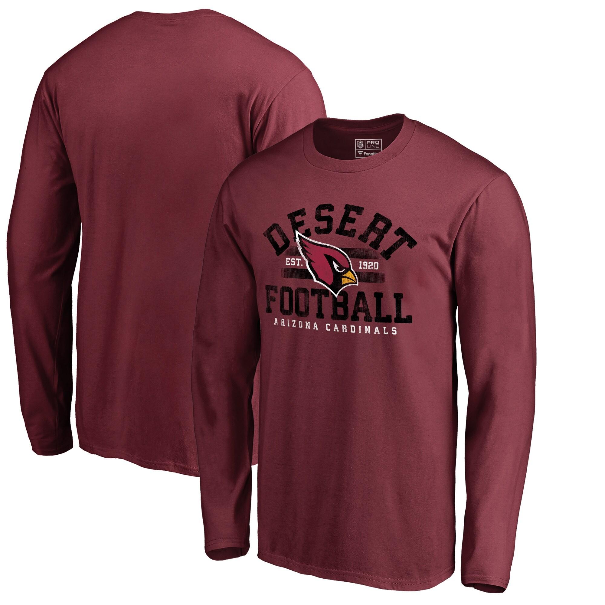 Arizona Cardinals NFL Pro Line by Fanatics Branded Hometown Collection Big & Tall Long Sleeve T-Shirt - Cardinal