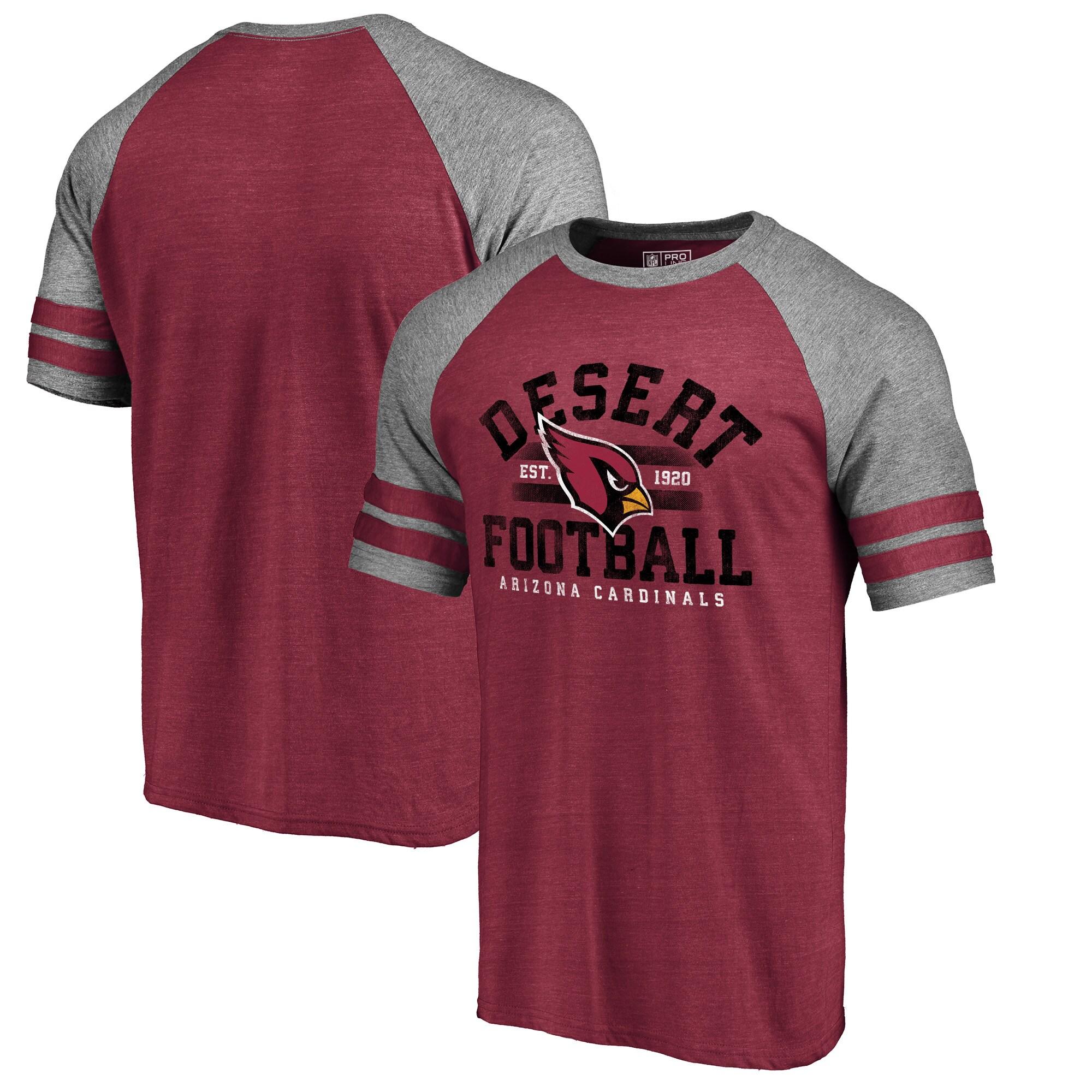 Arizona Cardinals NFL Pro Line by Fanatics Branded Hometown Collection Raglan Tri-Blend T-Shirt - Cardinal