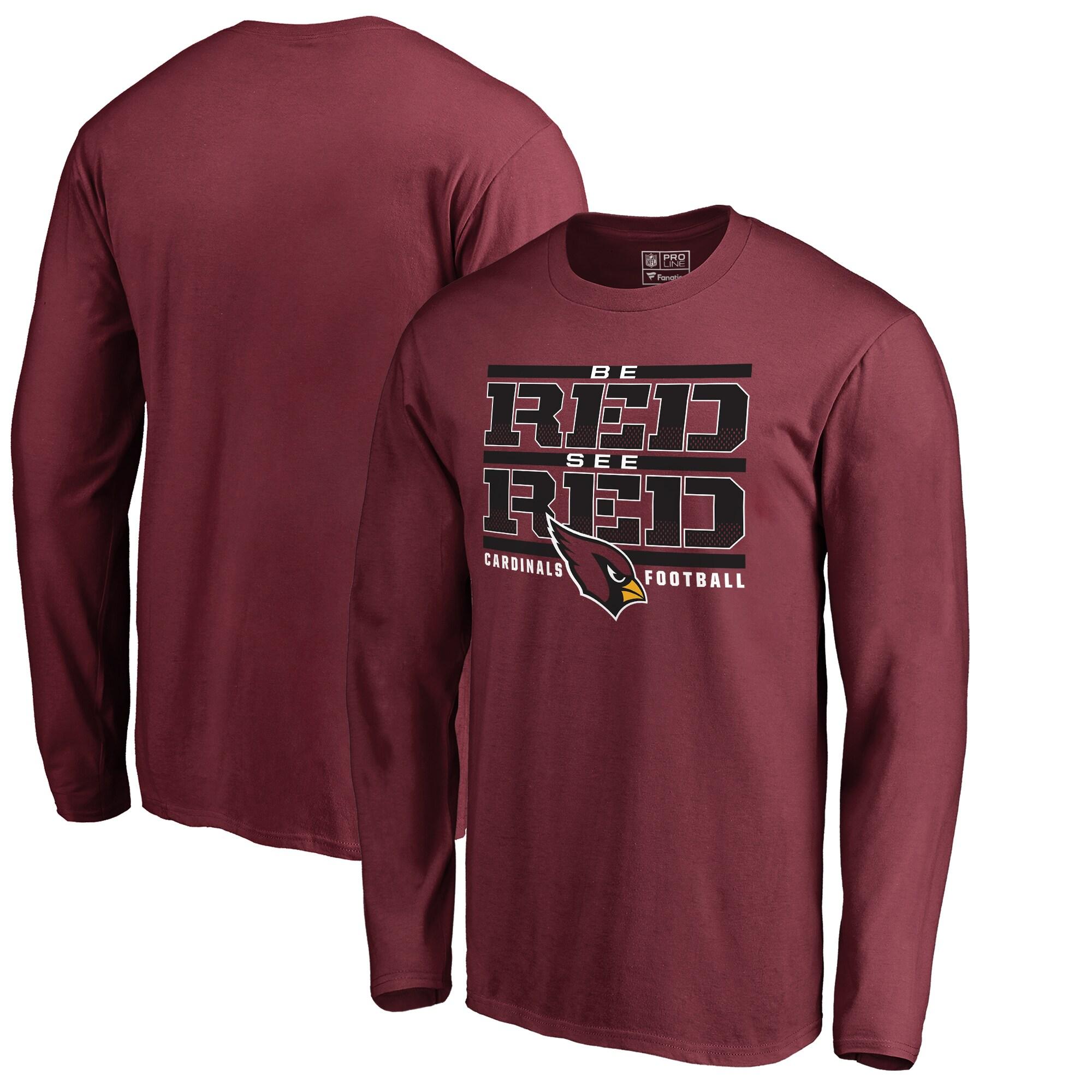 Arizona Cardinals NFL Pro Line by Fanatics Branded Hometown Collection Long Sleeve T-Shirt - Cardinal
