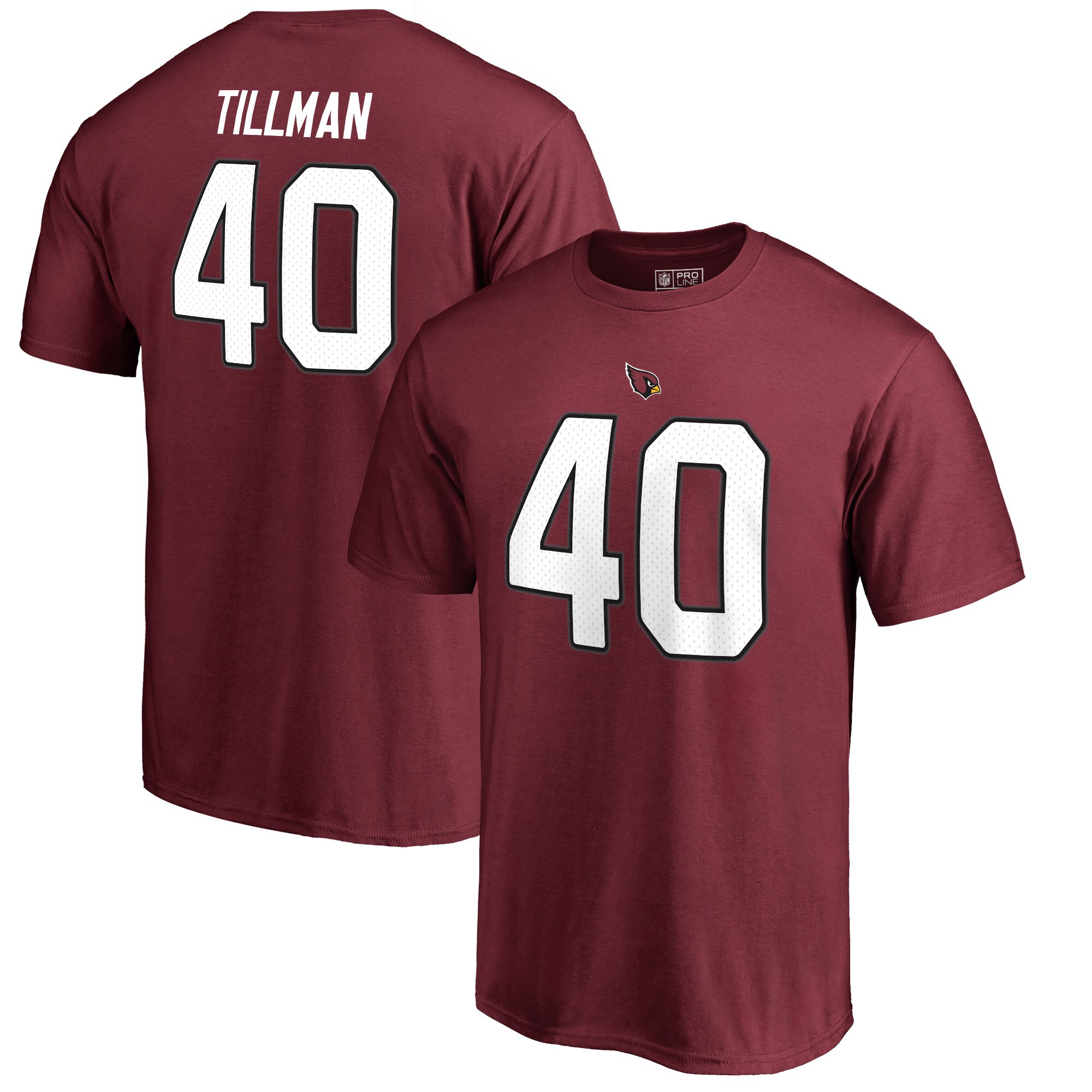 Pat Tillman Arizona Cardinals NFL Pro Line by Fanatics Branded Retired Player Authentic Stack Name & Number T-Shirt - Cardinal