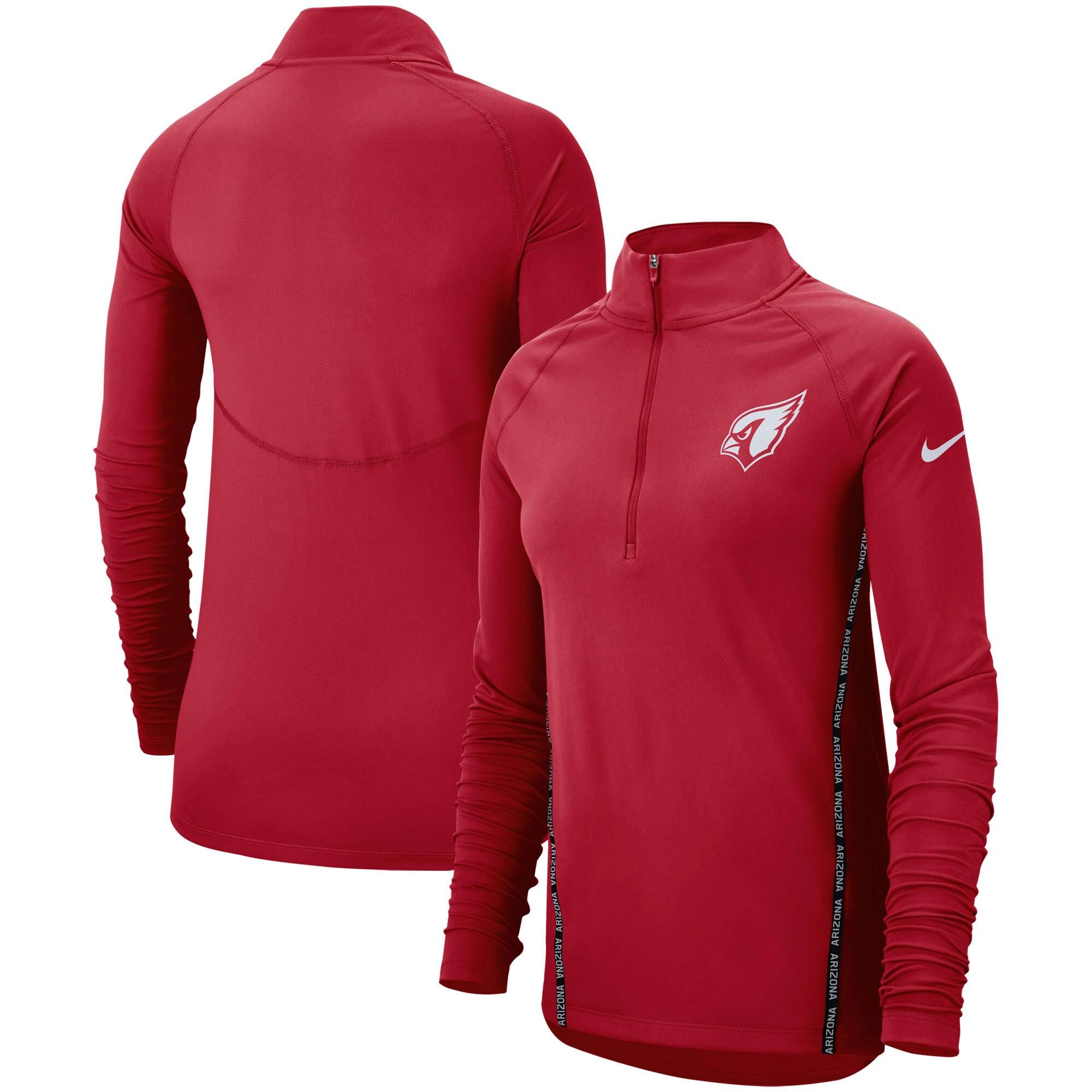 Arizona Cardinals Nike Women's Core Half-Zip Pullover Jacket - Cardinal