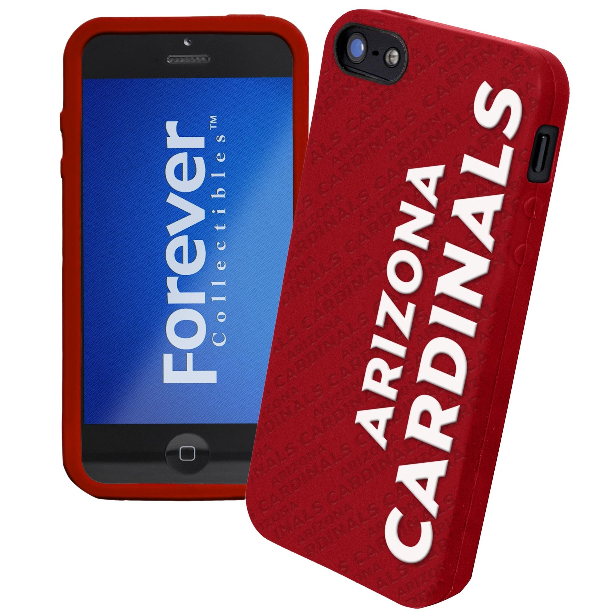 Arizona Cardinals Silicone iPhone 5 Cover - Cardinal