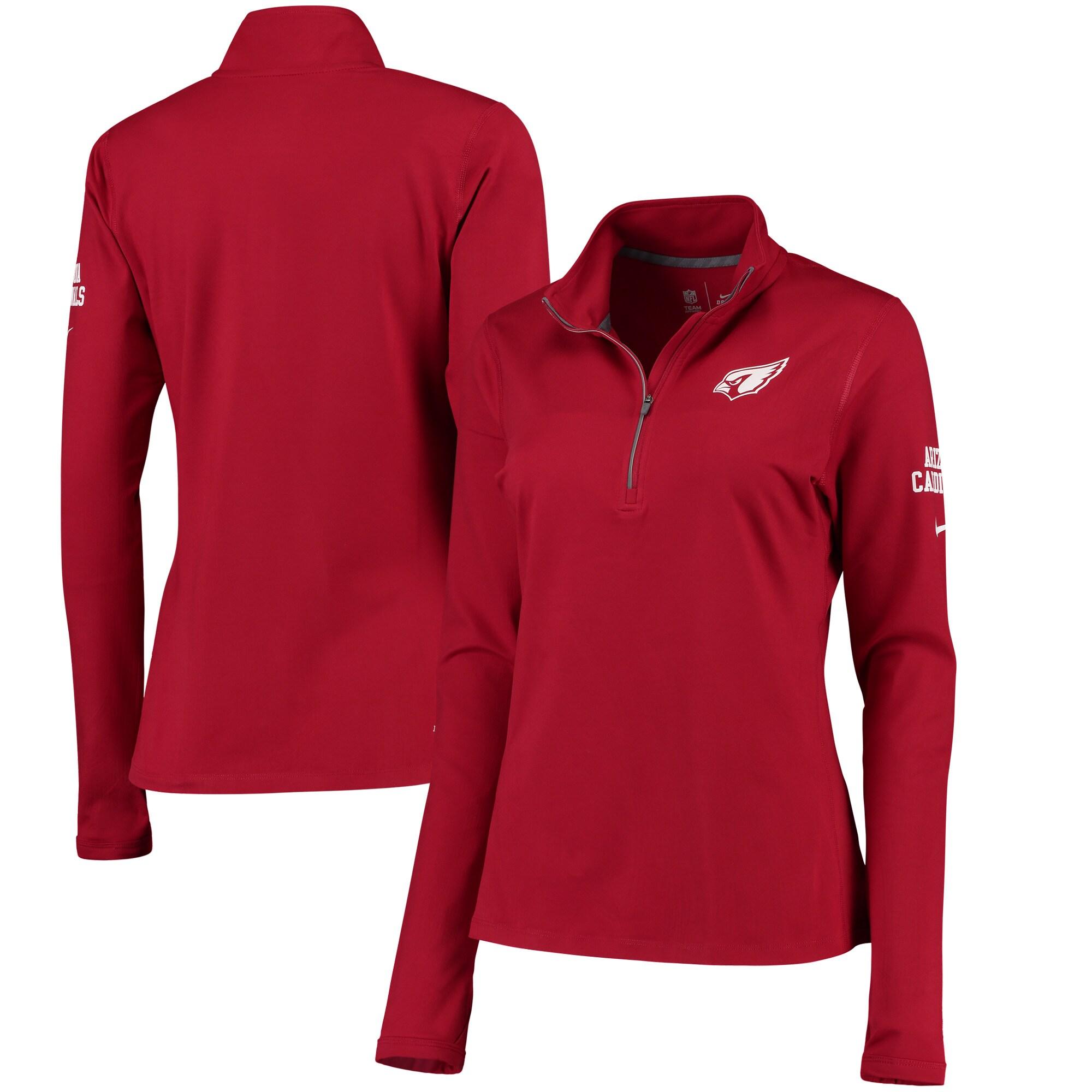 Arizona Cardinals Nike Women's Tailgate Element Half-Zip Performance Jacket - Cardinal