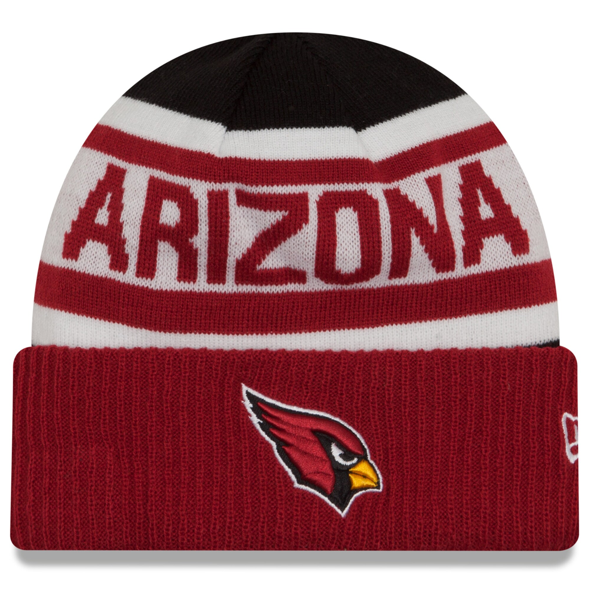 Arizona Cardinals New Era Biggest Fan 2.0 Cuffed Knit Hat - Black/Cardinal