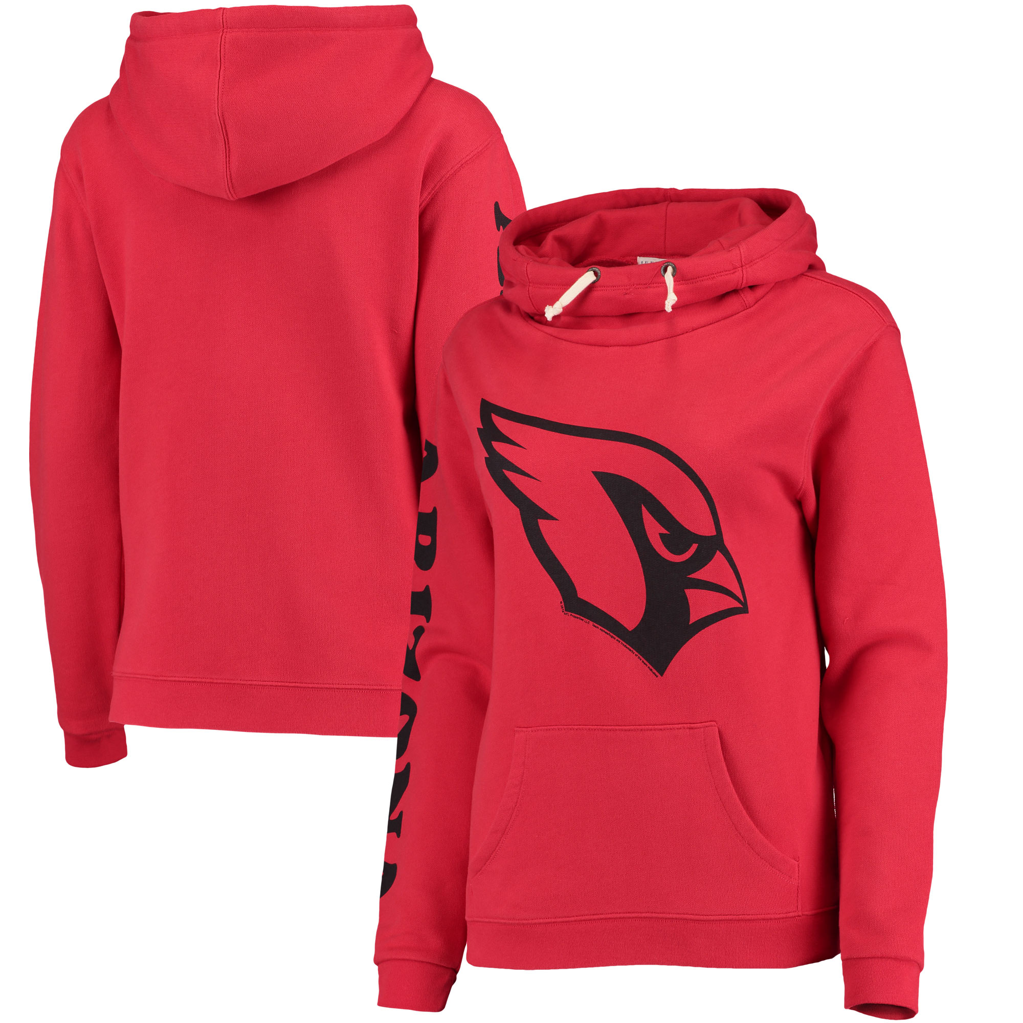 Arizona Cardinals Junk Food Women's Sunday Funnel Neck Pullover Hoodie - Cardinal