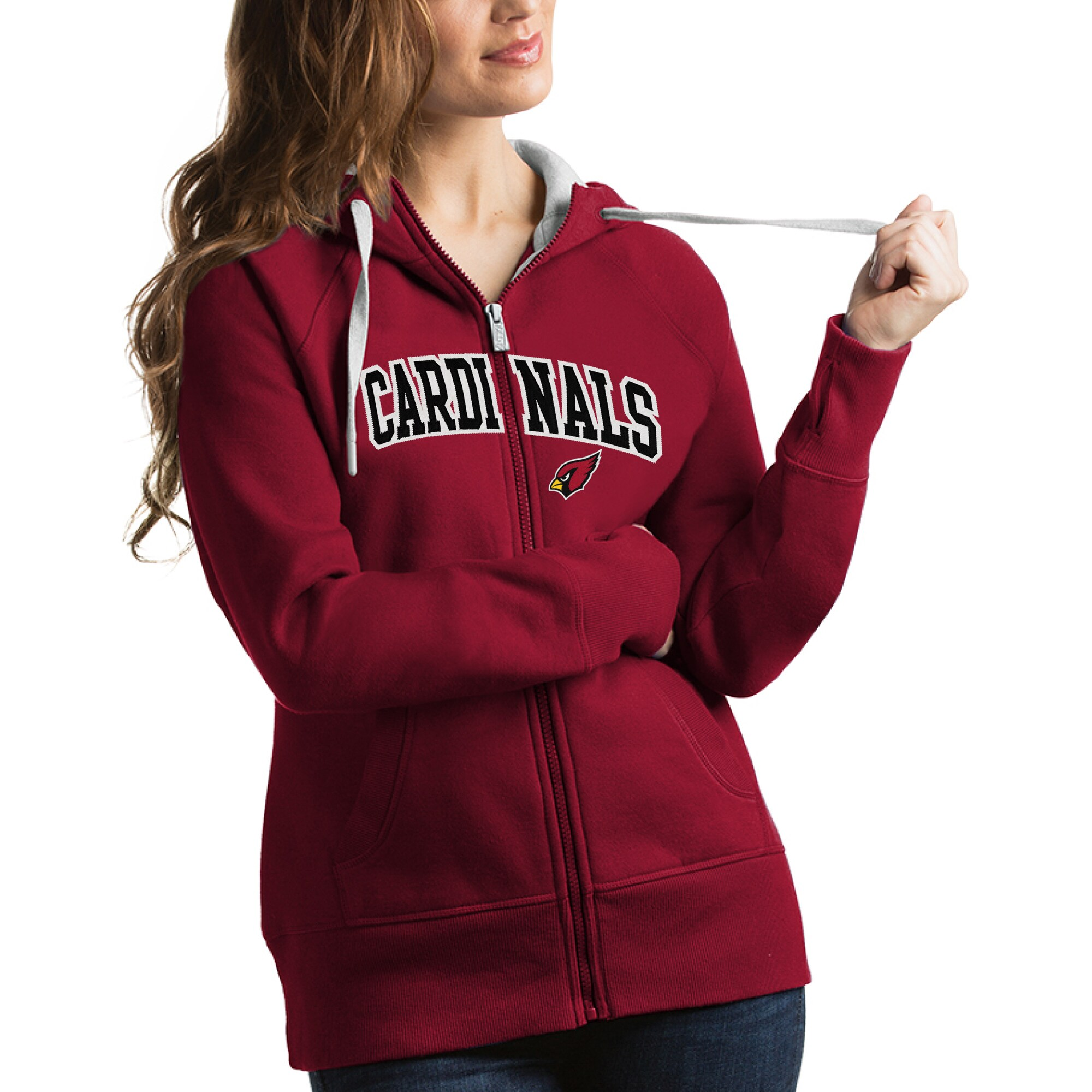 Arizona Cardinals Antigua Women's Victory Full-Zip Hoodie - Cardinal