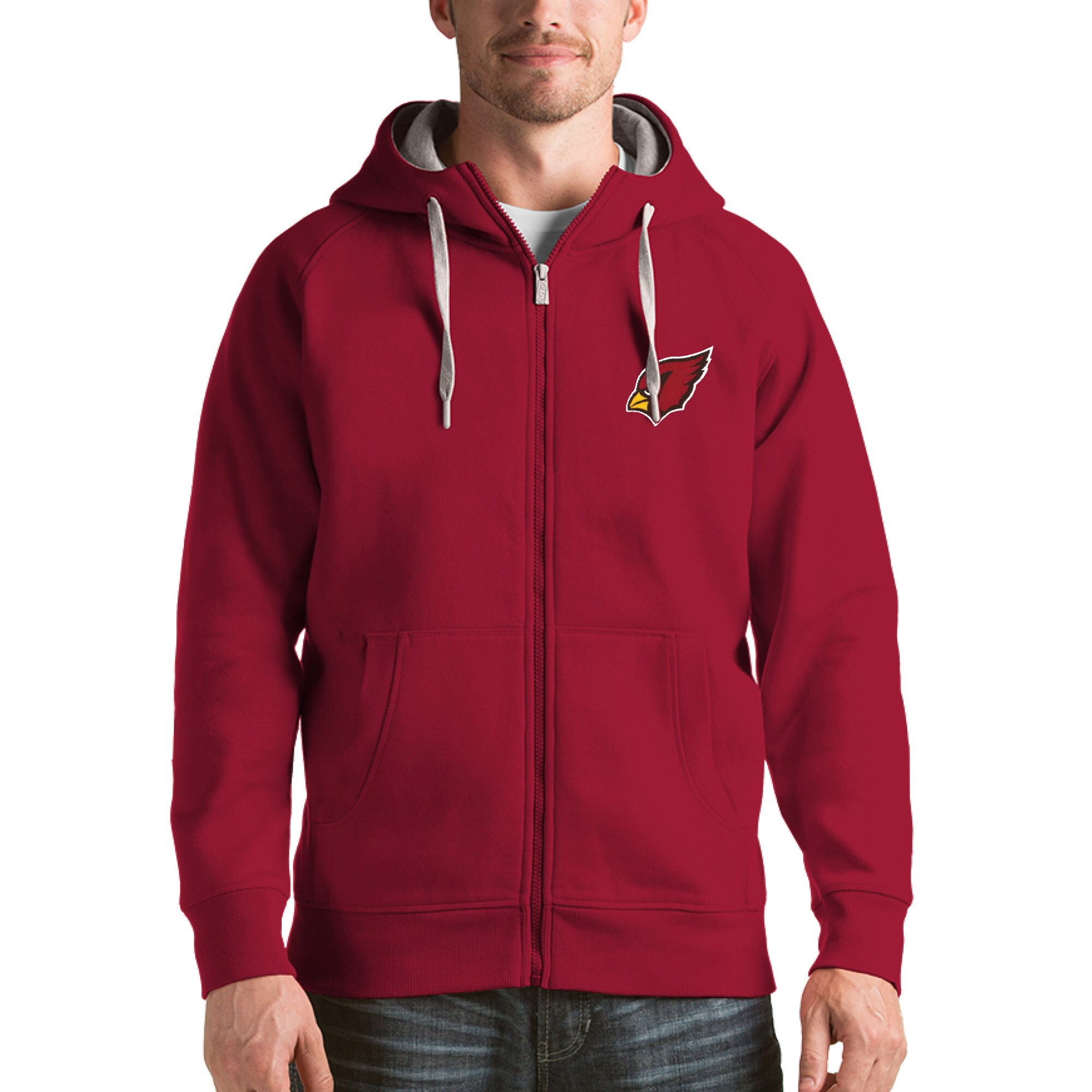 Arizona Cardinals Antigua Victory Full-Zip Hoodie - Cardinal