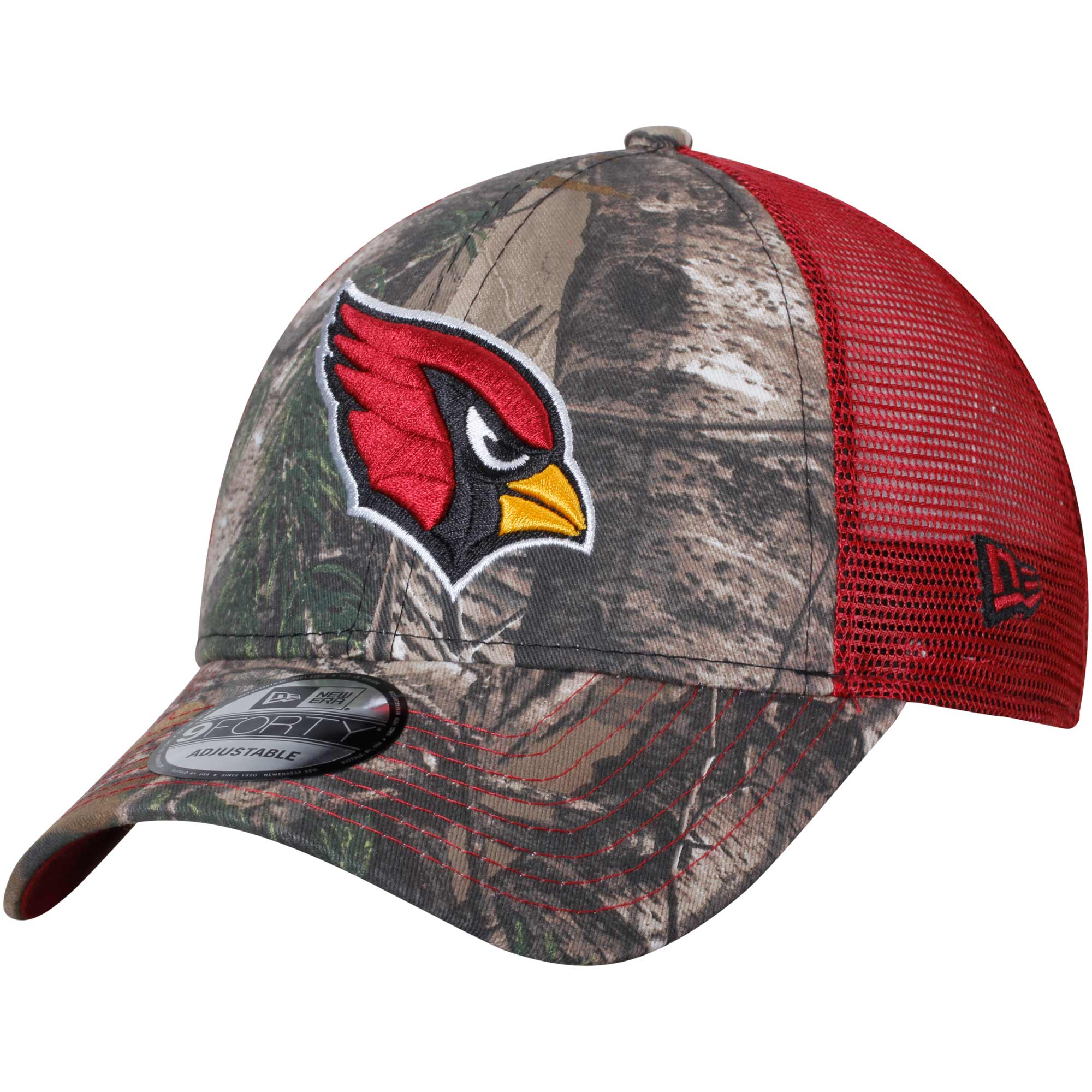 Arizona Cardinals New Era Trucker 9FORTY Adjustable Snapback Hat - Realtree Camo/Cardinal