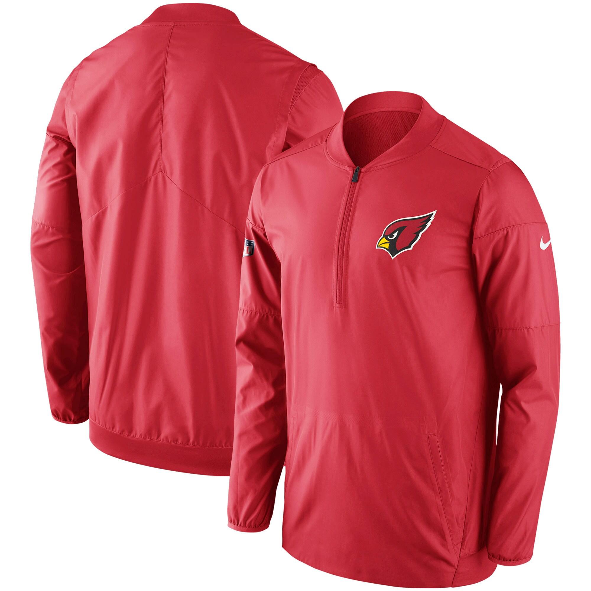 Arizona Cardinals Nike Sideline Lockdown Half-Zip Pullover Jacket - Cardinal