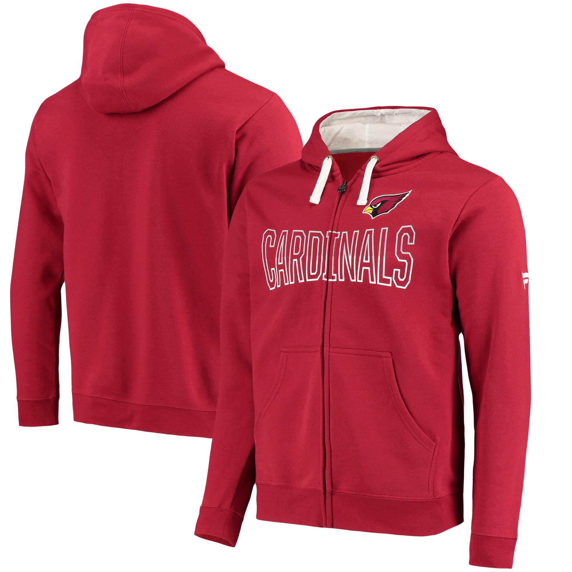 Arizona Cardinals NFL Pro Line by Fanatics Branded Iconic Fleece Full-Zip Hoodie - Cardinal