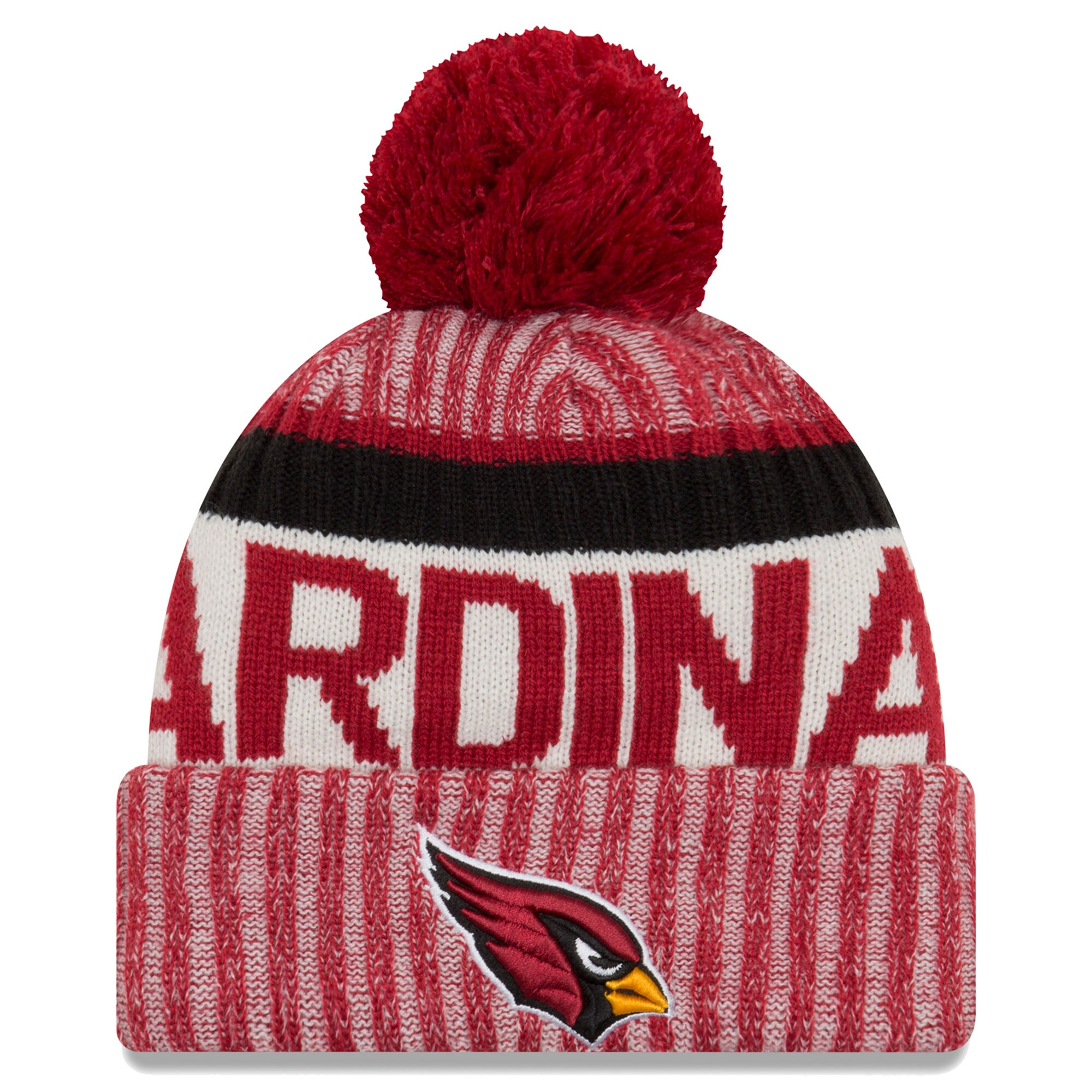 Arizona Cardinals New Era 2017 Sideline Official Sport Knit Hat - Cardinal