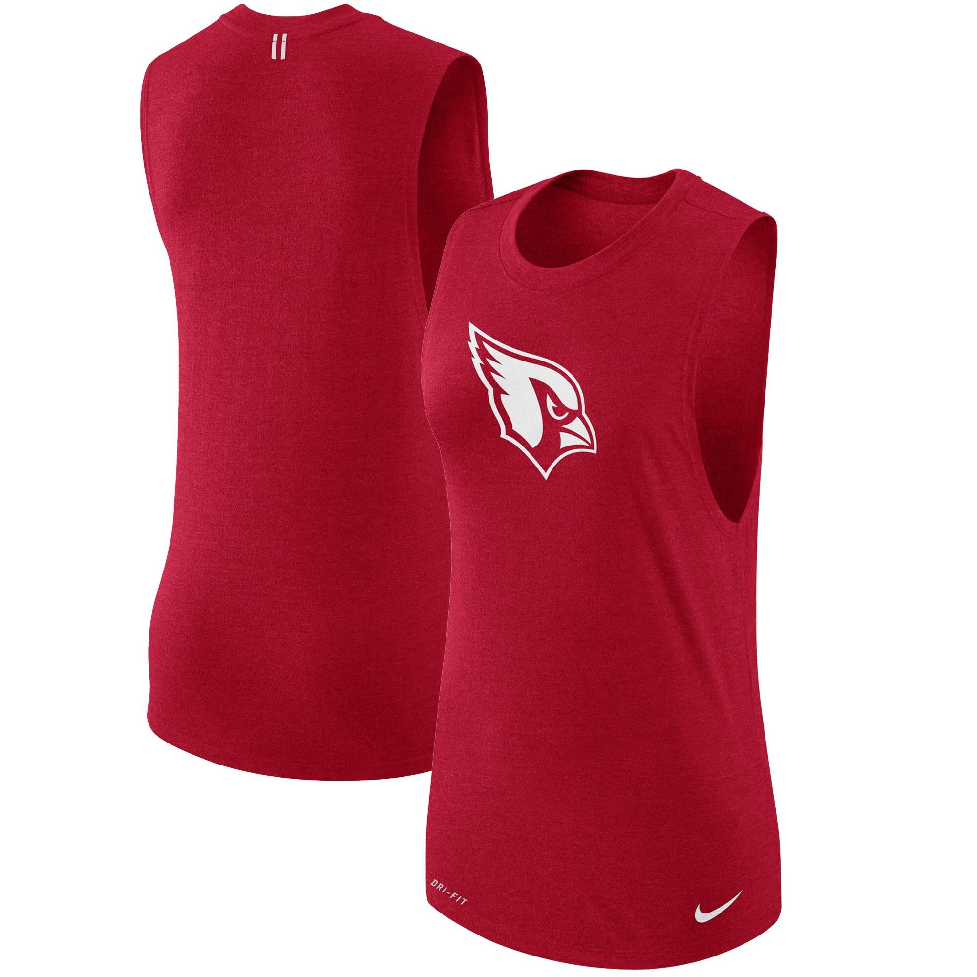 Arizona Cardinals Nike Women's Logo Muscle Performance Tank Top - Cardinal