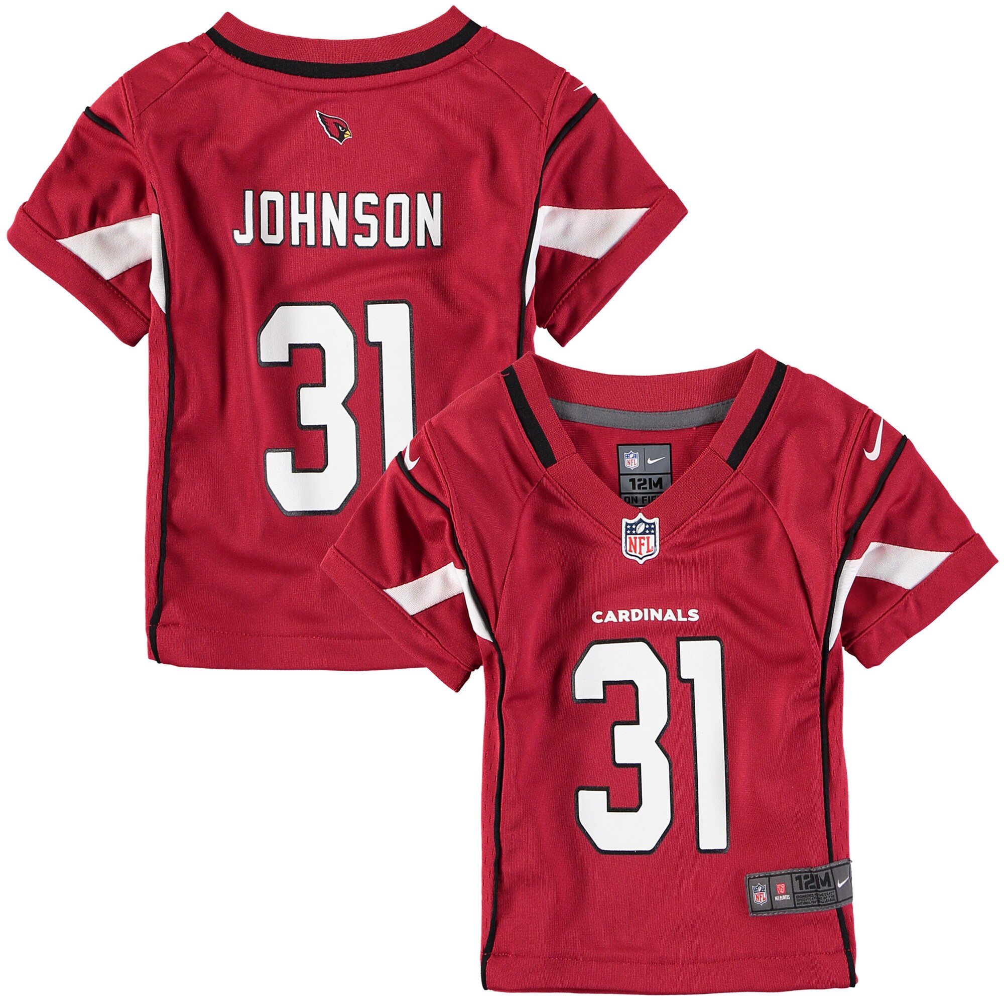 David Johnson Arizona Cardinals Nike Infant Game Jersey - Cardinal