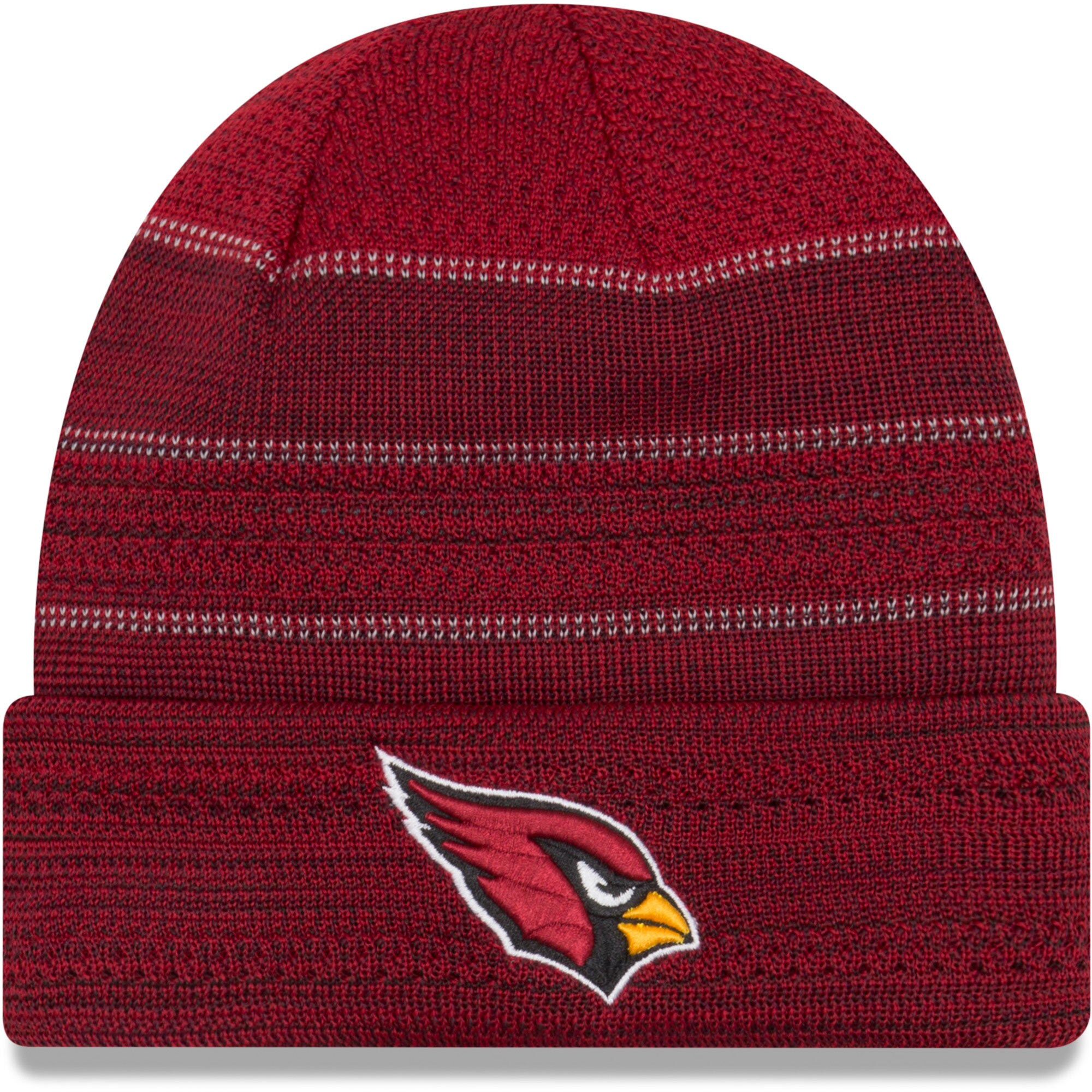 Arizona Cardinals New Era 2017 Sideline Official TD Knit Hat - Cardinal
