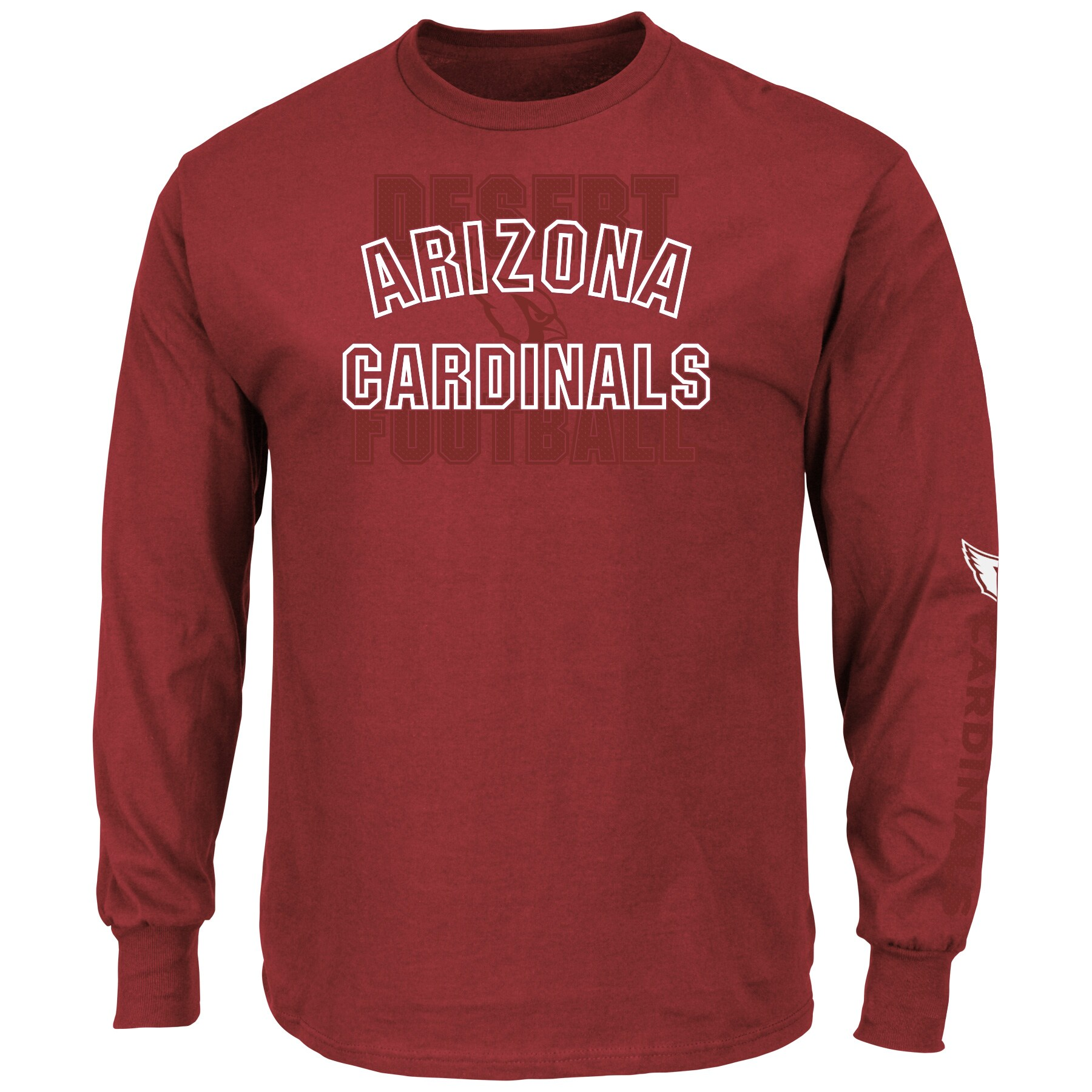 Arizona Cardinals Majestic Primary Receiver Slogan Long Sleeve T-Shirt - Cardinal