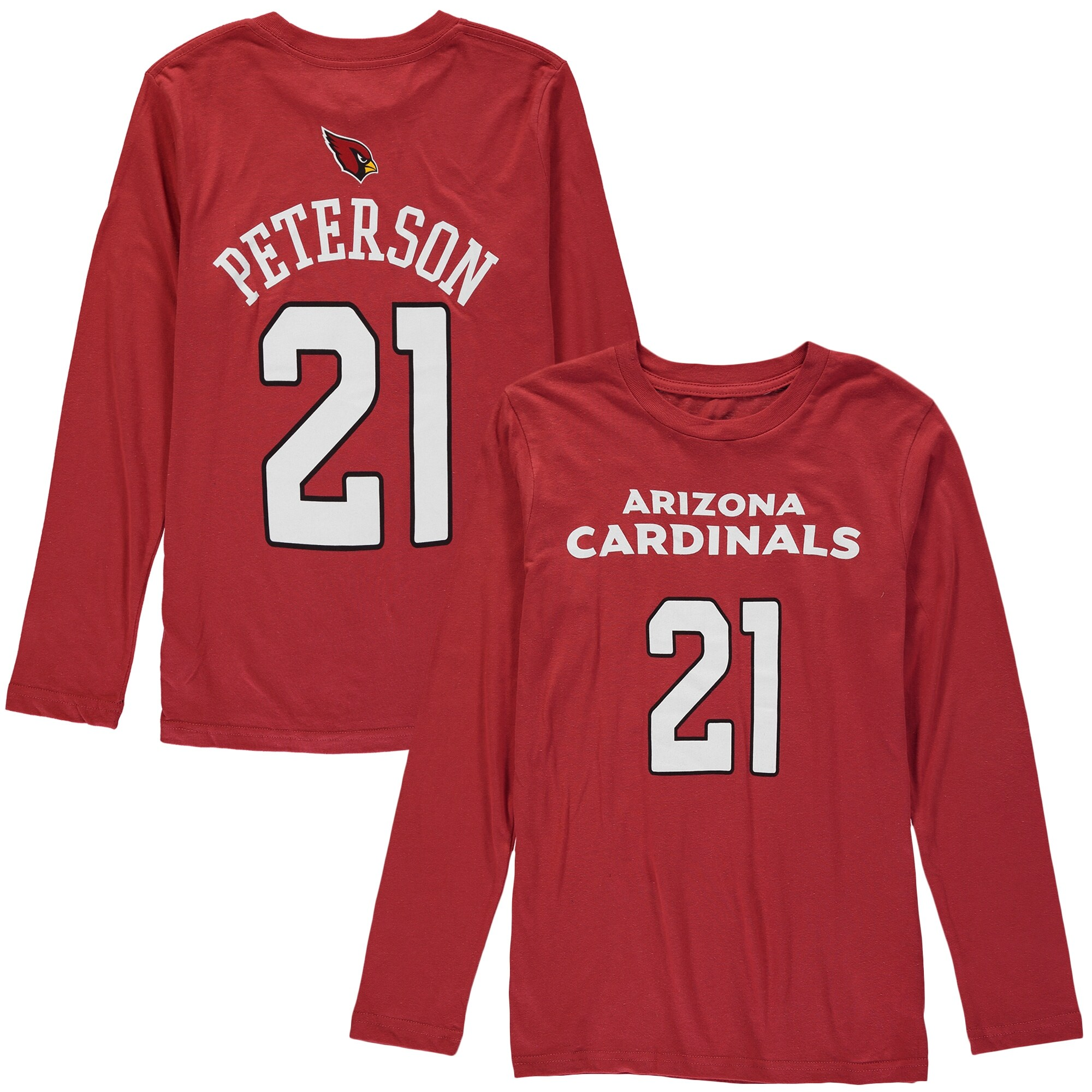 Patrick Peterson Arizona Cardinals Youth Player Name & Number Long Sleeve Shirt - Cardinal