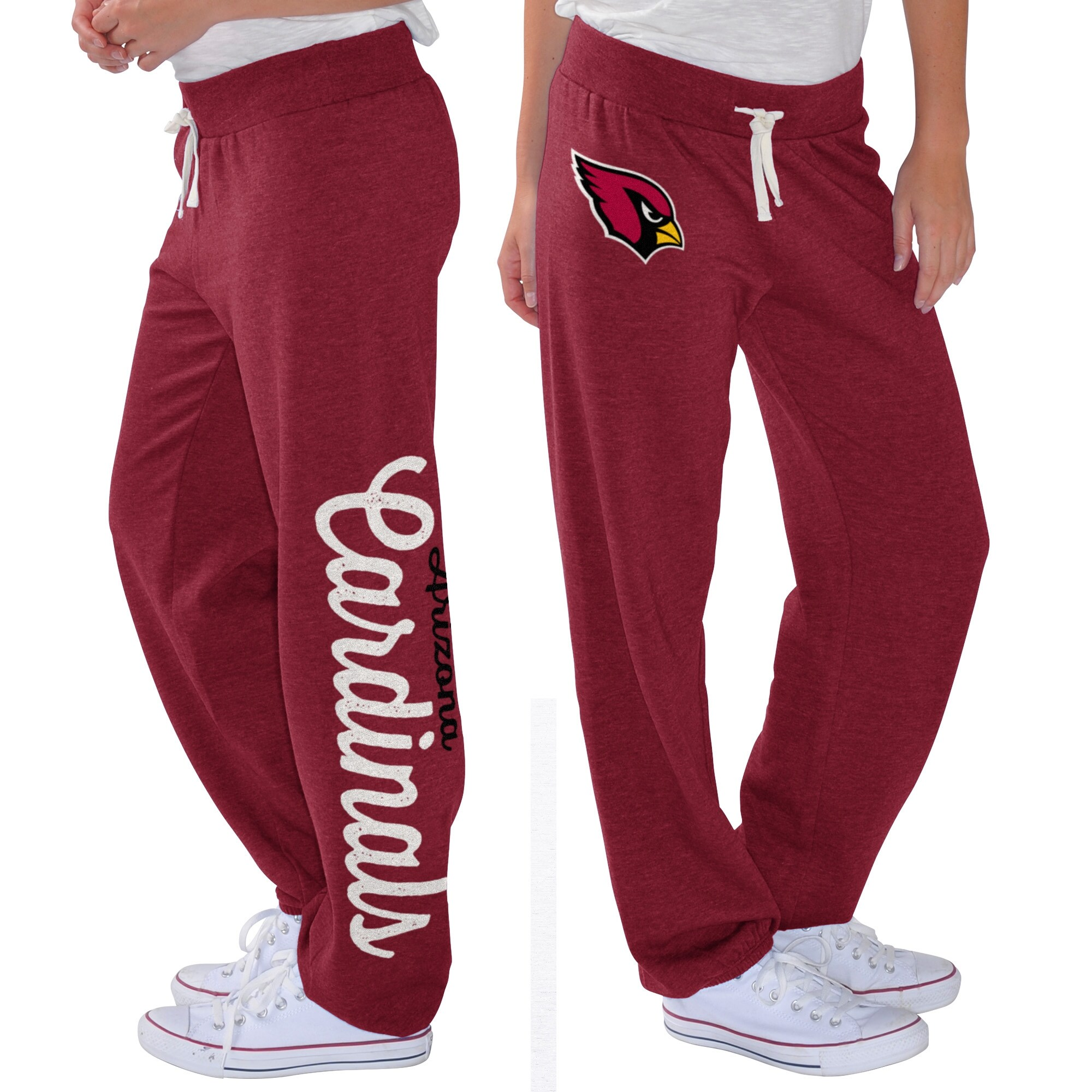 Arizona Cardinals G-III 4Her by Carl Banks Women's Scrimmage Fleece Pants - Cardinal