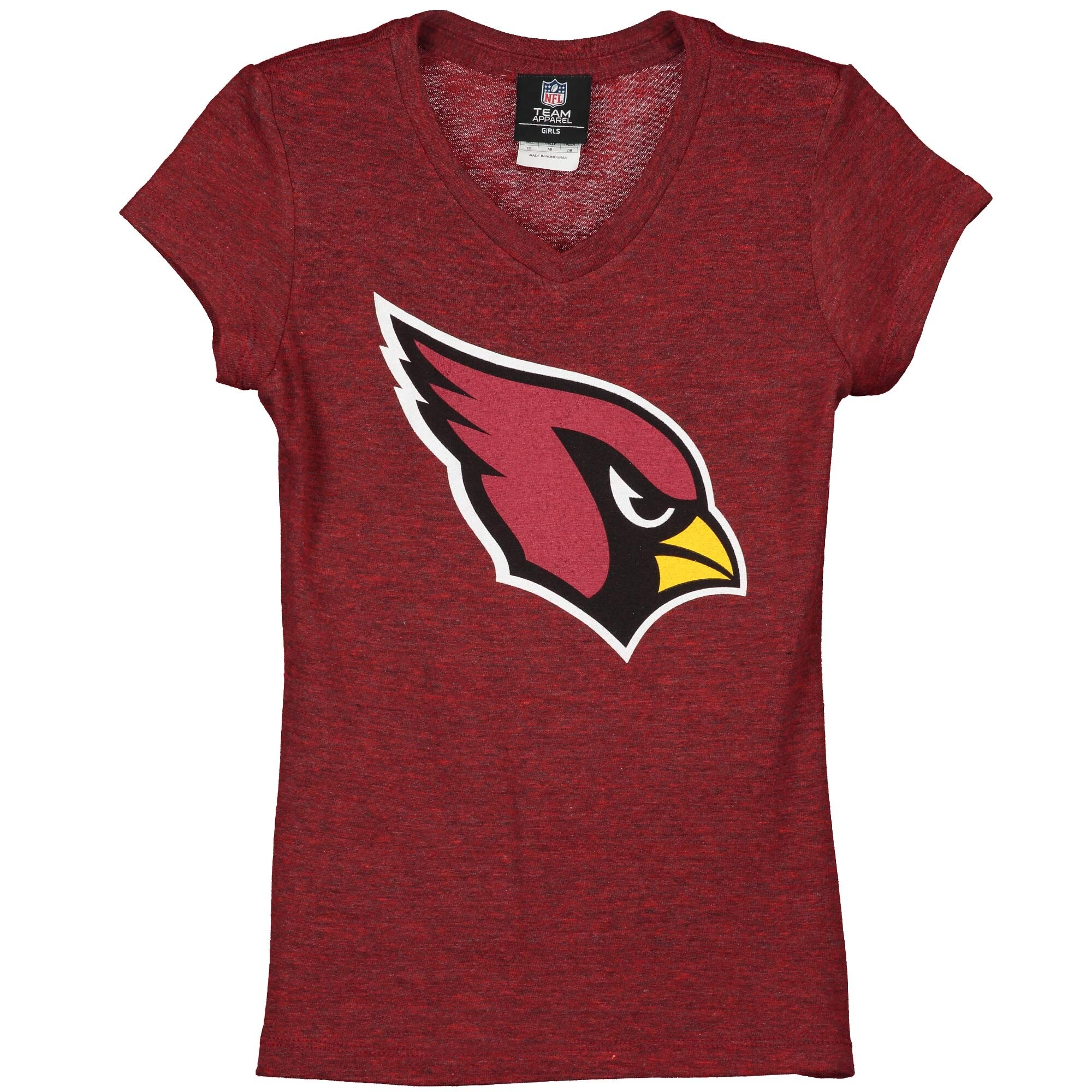 Arizona Cardinals 5th & Ocean by New Era Girls Youth Basic Logo Tri-Blend V-Neck T-Shirt - Cardinal