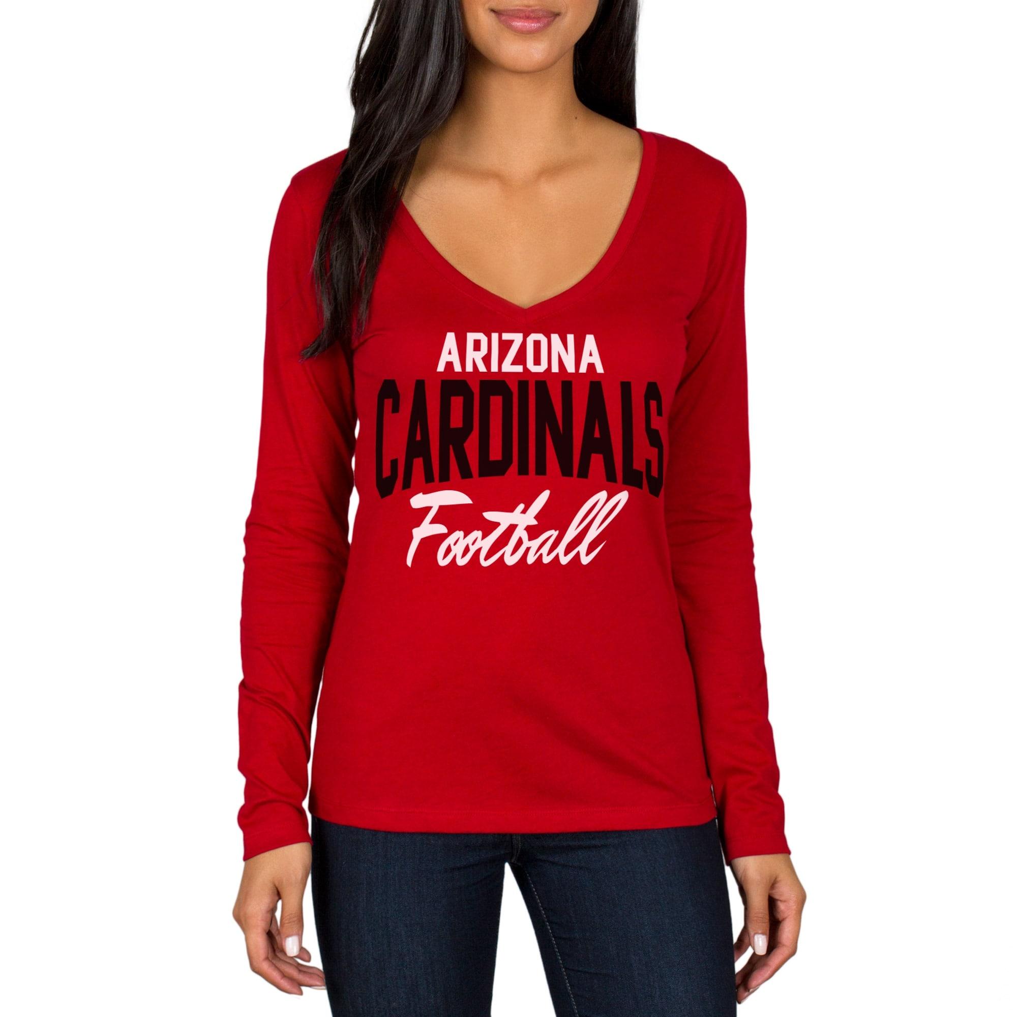 Arizona Cardinals Women's Direct Snap V-Neck Long Sleeve T-Shirt - Cardinal
