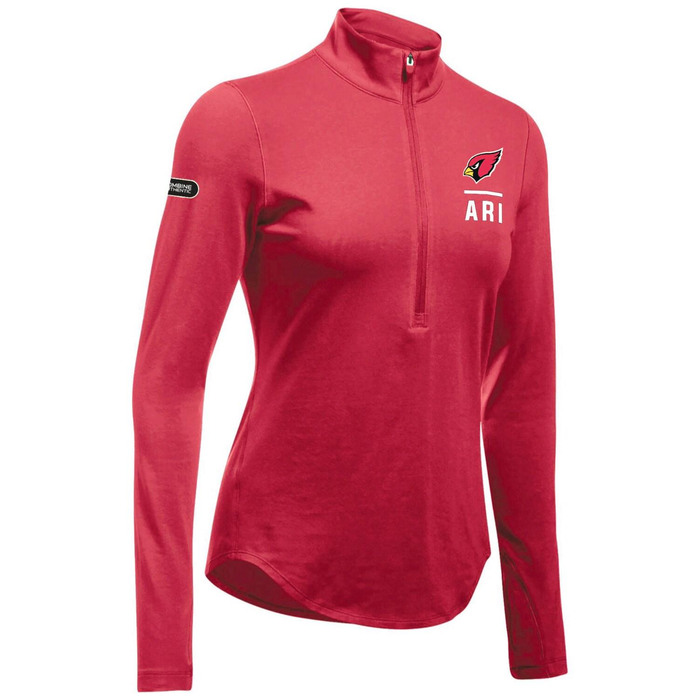 Arizona Cardinals Under Armour Women's Combine Authentic Favorites Performance Tri-Blend Half-Zip Pullover Jacket - Cardinal