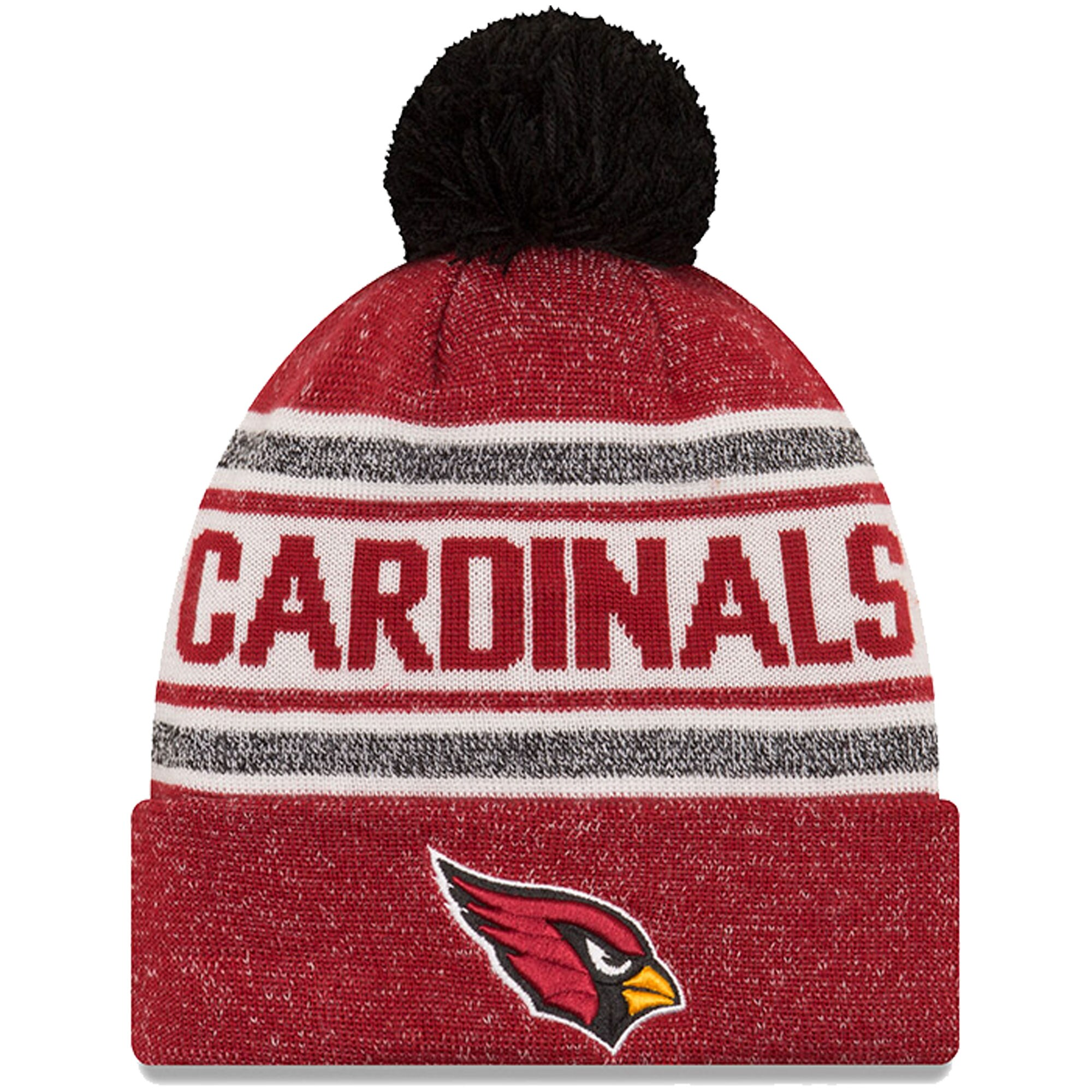 Arizona Cardinals New Era Toasty Cover Cuffed Knit Hat with Pom - Cardinal