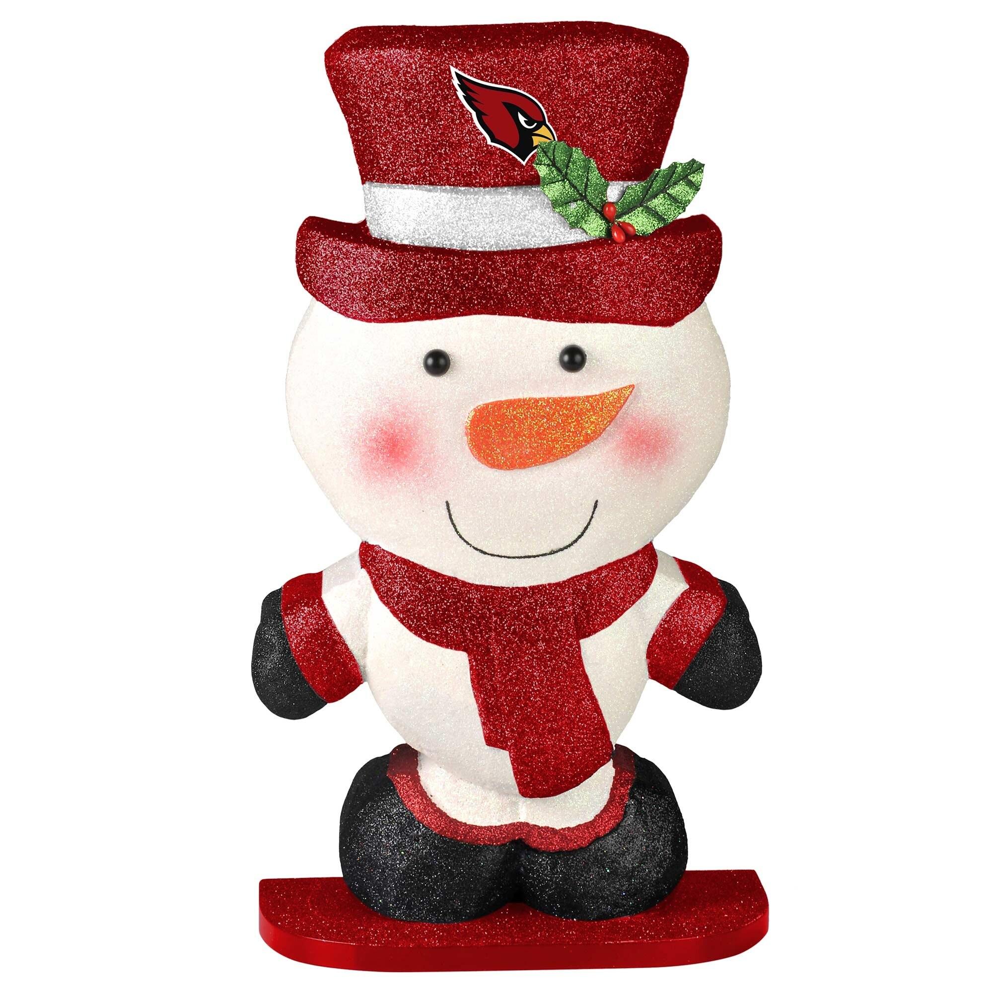 Arizona Cardinals Polystyrene Snowman Figurine