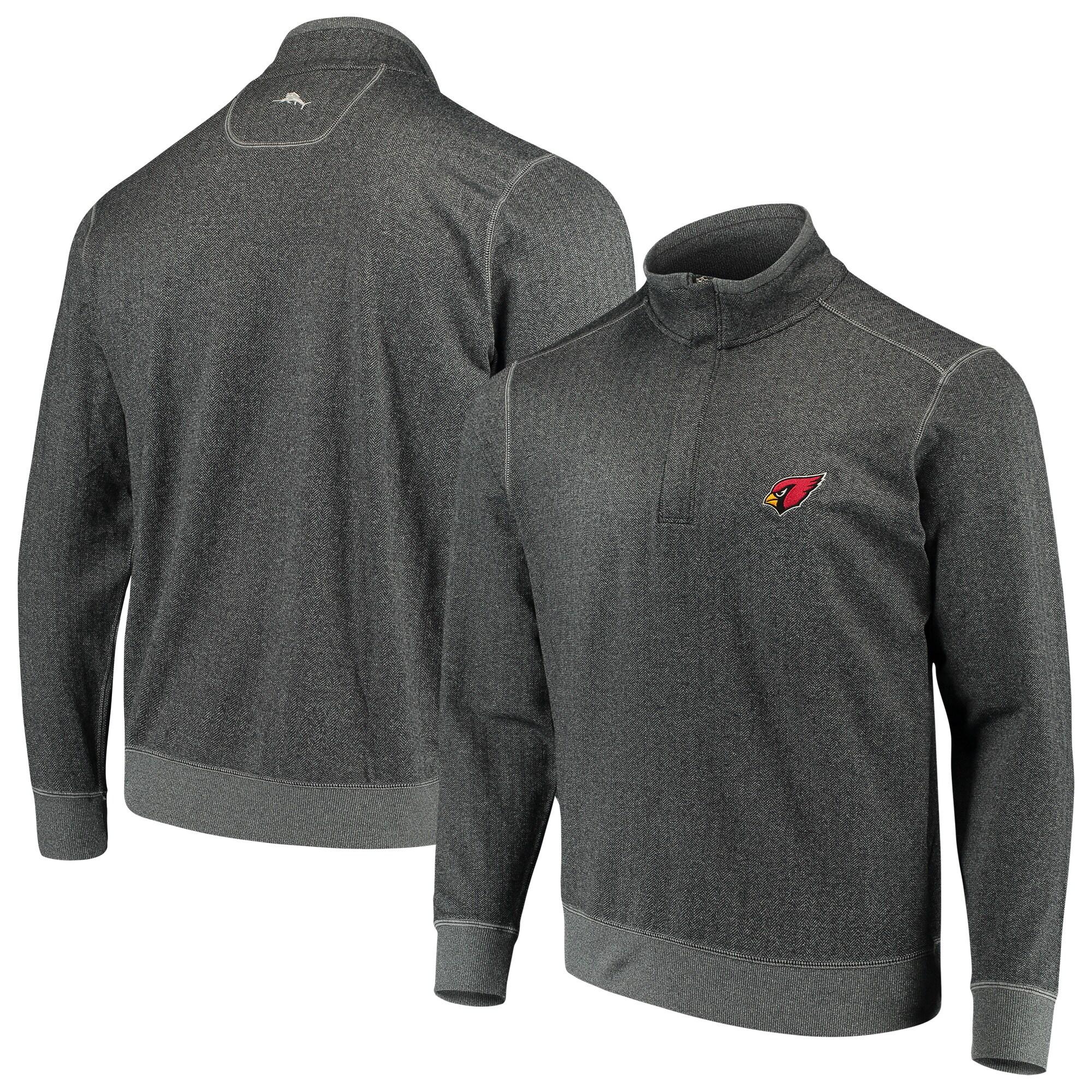 Arizona Cardinals Tommy Bahama ProFormance Half-Zip Pullover Jacket - Heathered Charcoal