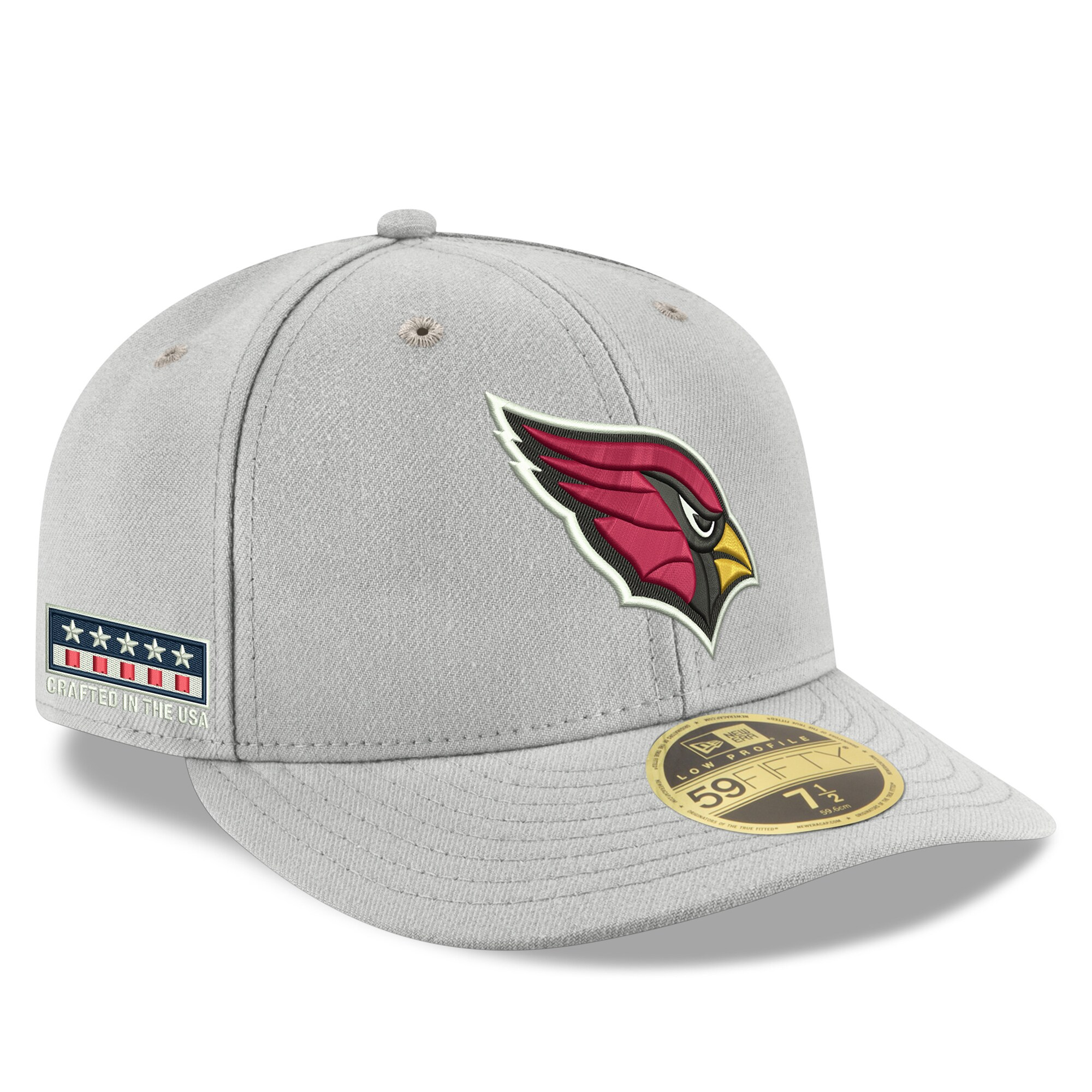 Arizona Cardinals New Era Crafted in the USA Low Profile 59FIFTY Fitted Hat - Gray