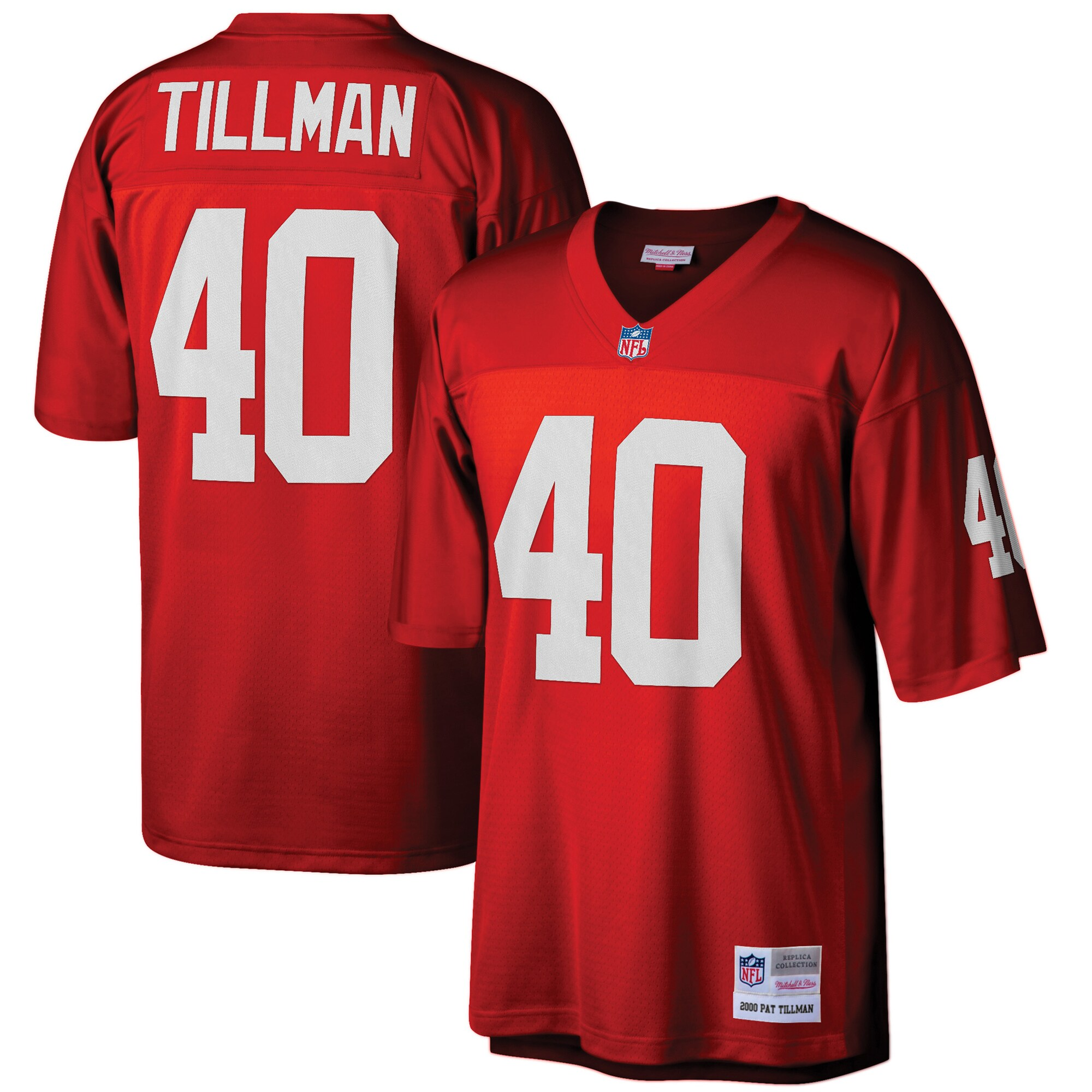 Pat Tillman Arizona Cardinals Mitchell & Ness Big & Tall 2000 Retired Player Replica Jersey - Cardinal