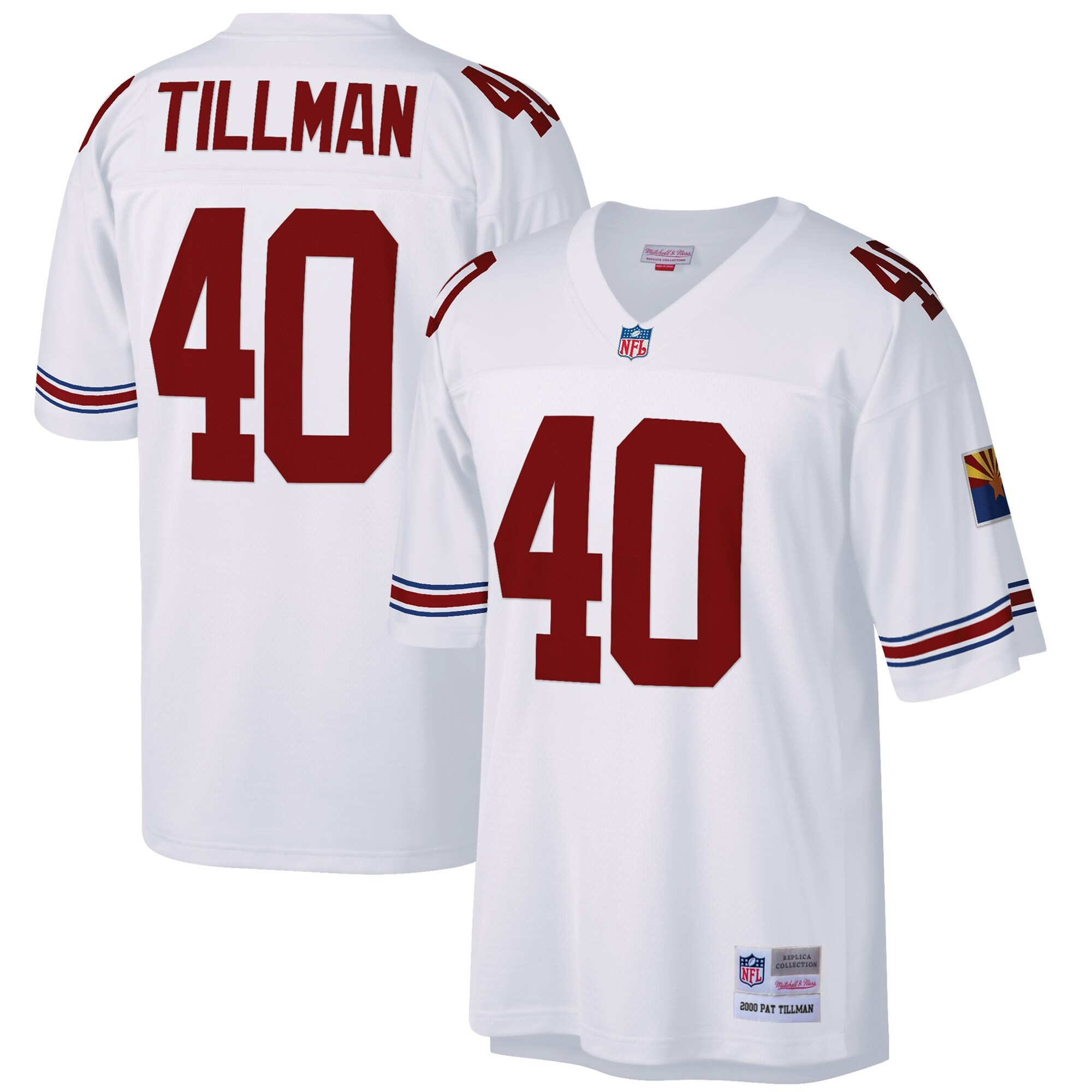 Pat Tillman Arizona Cardinals Mitchell & Ness Big & Tall 2000 Retired Player Replica Jersey - White
