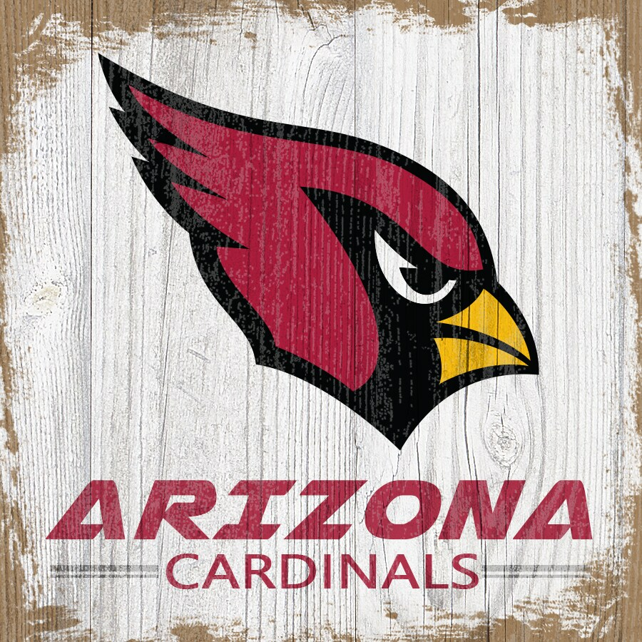 Arizona Cardinals 6'' x 6'' Team Logo Block