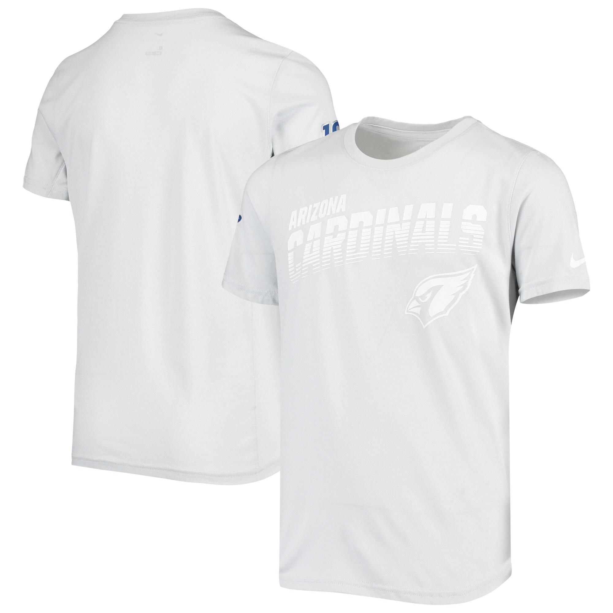 Arizona Cardinals Nike Youth NFL 100 2019 Sideline Platinum Performance T-Shirt - White
