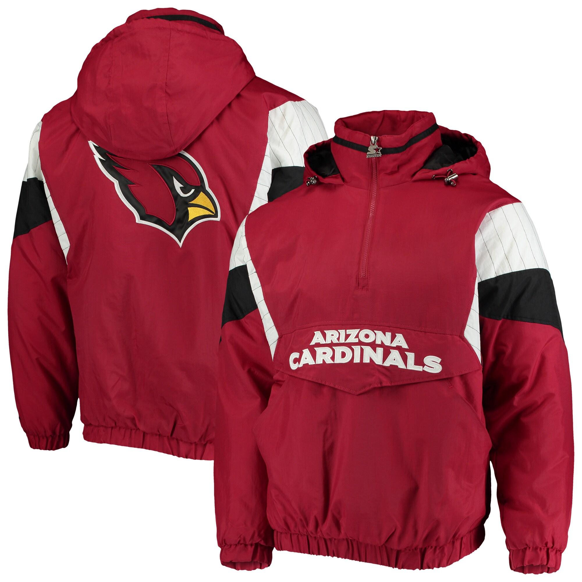 Arizona Cardinals Starter NFL 100 Thursday Night Lights Quarter-Zip Breakaway Jacket - Cardinal/Black