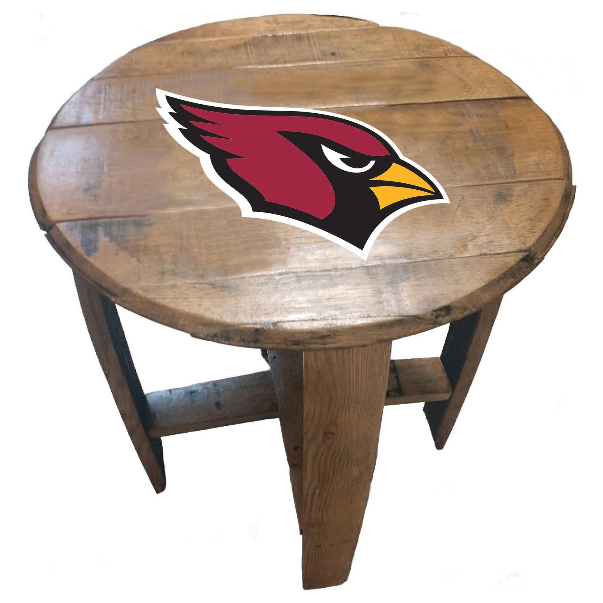 Arizona Cardinals Imperial Oak Barrel Table