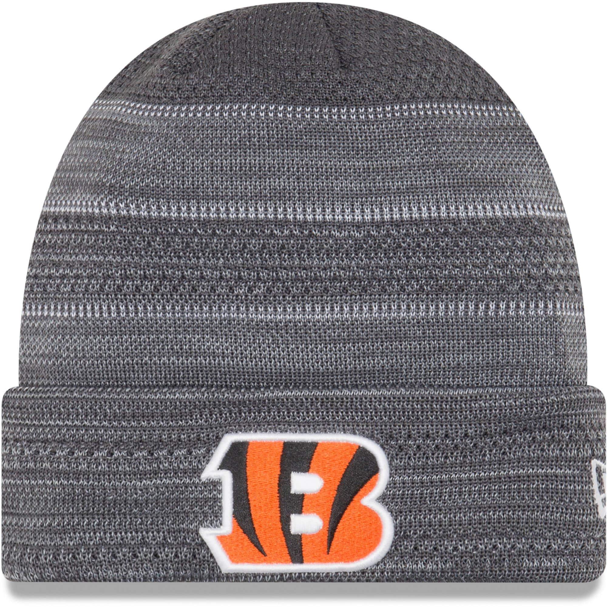 Cincinnati Bengals New Era 2017 Sideline Cold Weather TD Knit Hat - Gray/Graphite